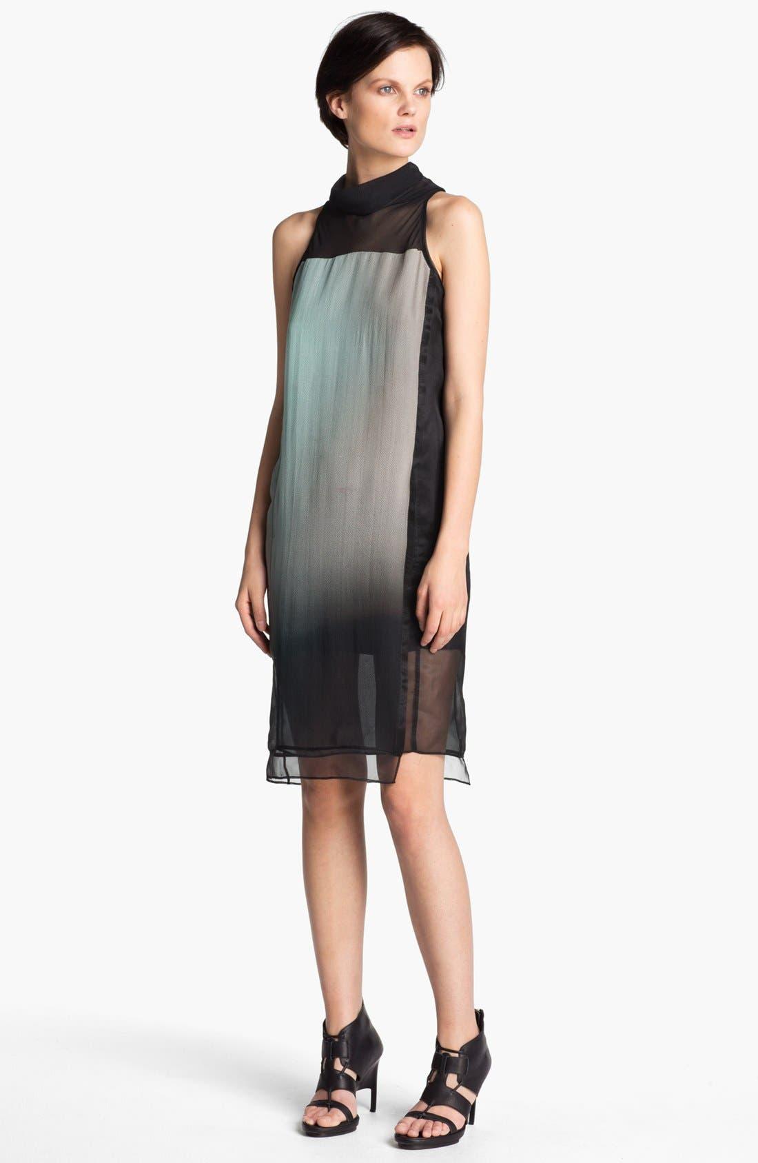 Main Image - Helmut Lang 'Mercury' Ombré Organza Dress