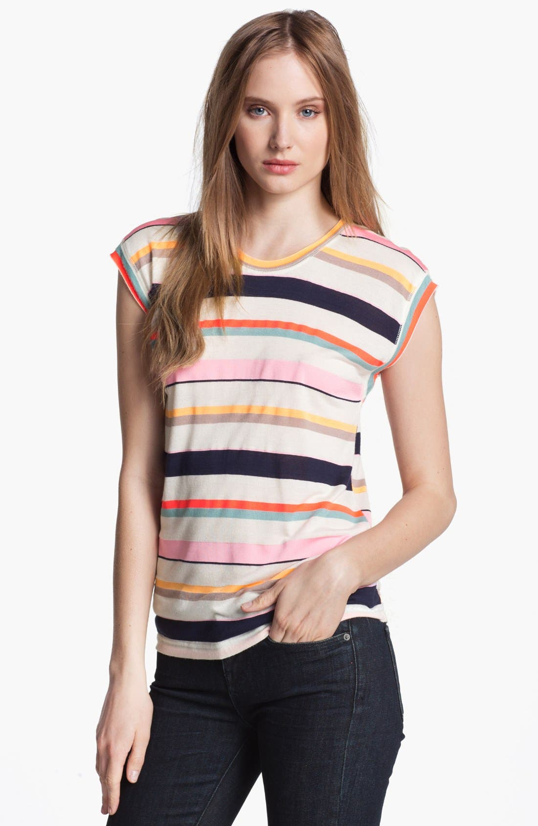 Alternate Image 1 Selected - MARC BY MARC JACOBS 'Smash' Stripe Tee