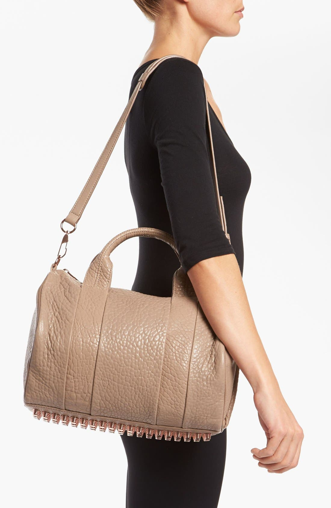 Alternate Image 2  - Alexander Wang 'Rocco - Rosegold' Leather Satchel