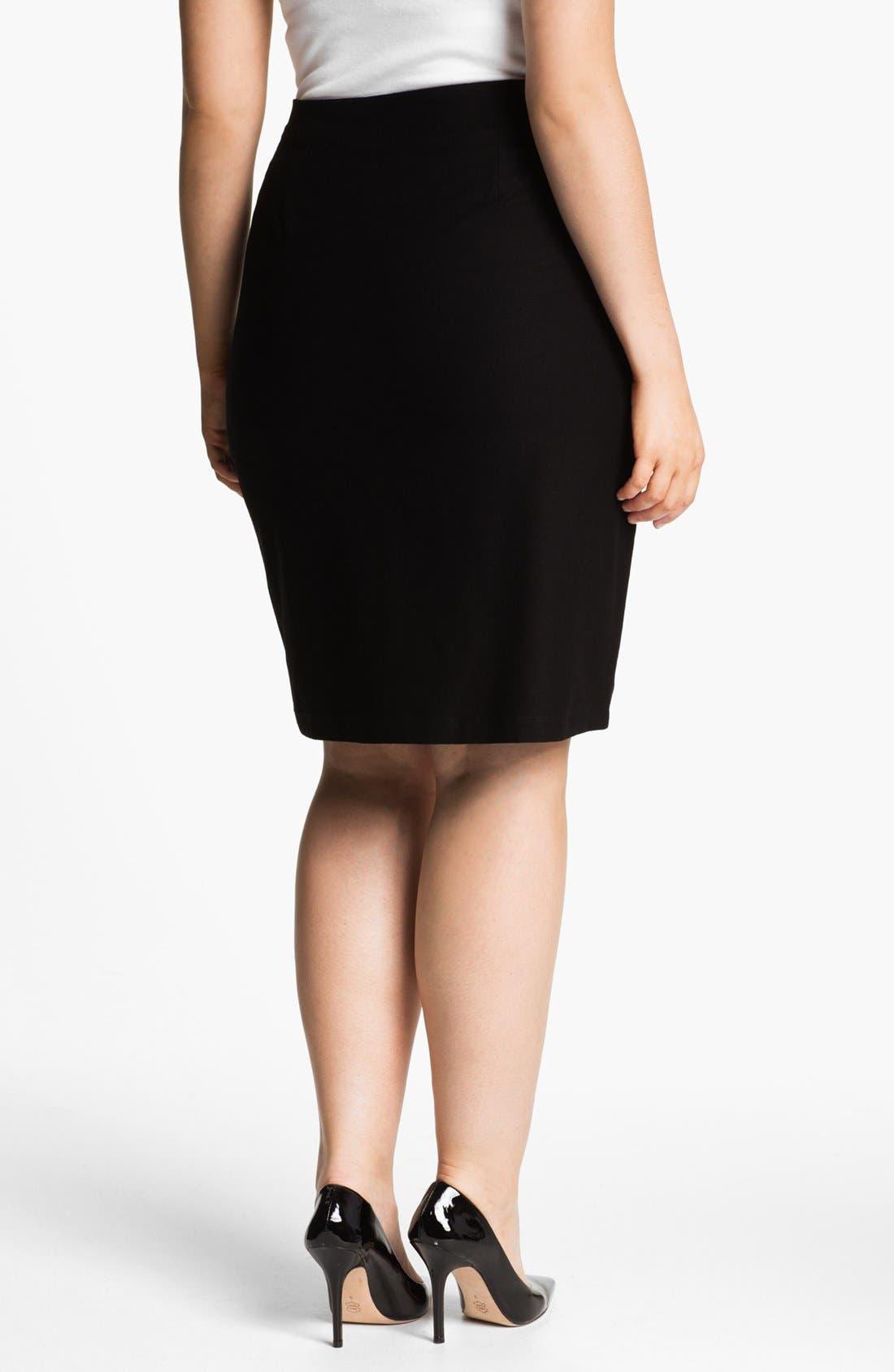 Alternate Image 2  - Eileen Fisher Pencil Skirt (Plus Size)