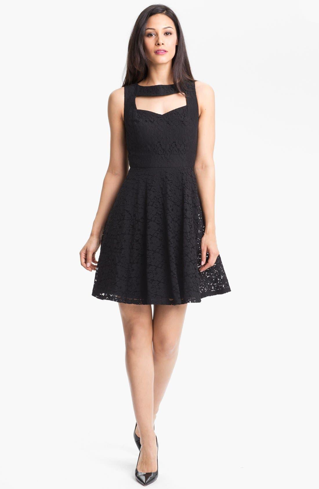 Main Image - Donna Morgan Sleeveless Lace Fit & Flare Dress