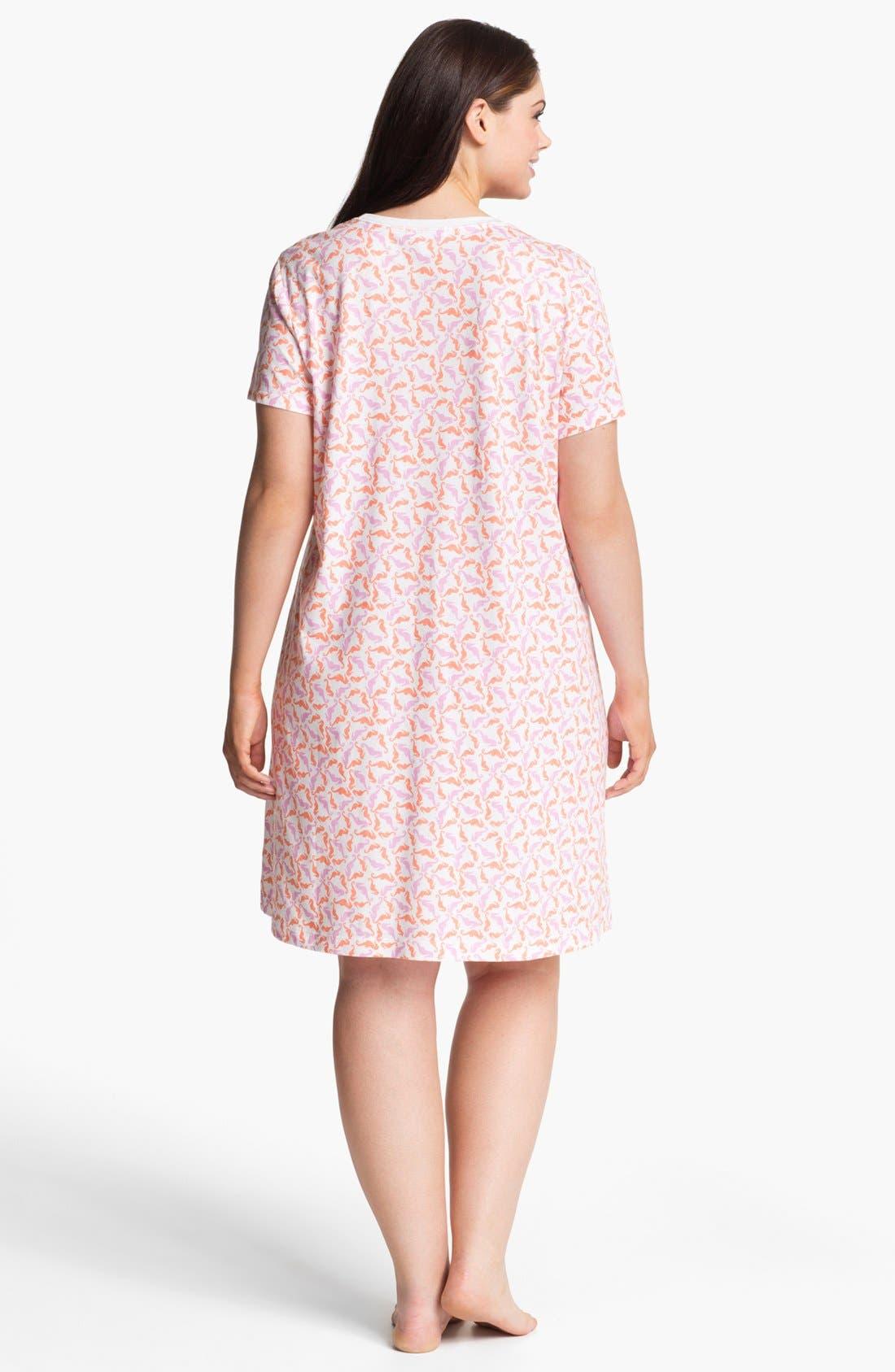 Alternate Image 2  - Carole Hochman Designs Pattern Knit Sleep Shirt (Plus Size)