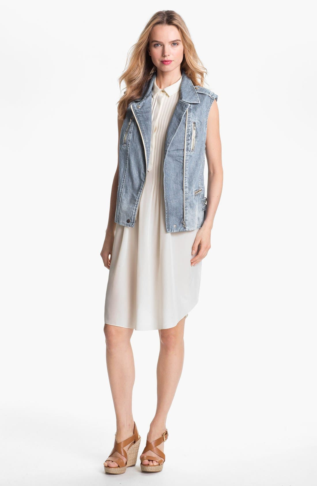 Alternate Image 1 Selected - Rebecca Taylor Denim Vest