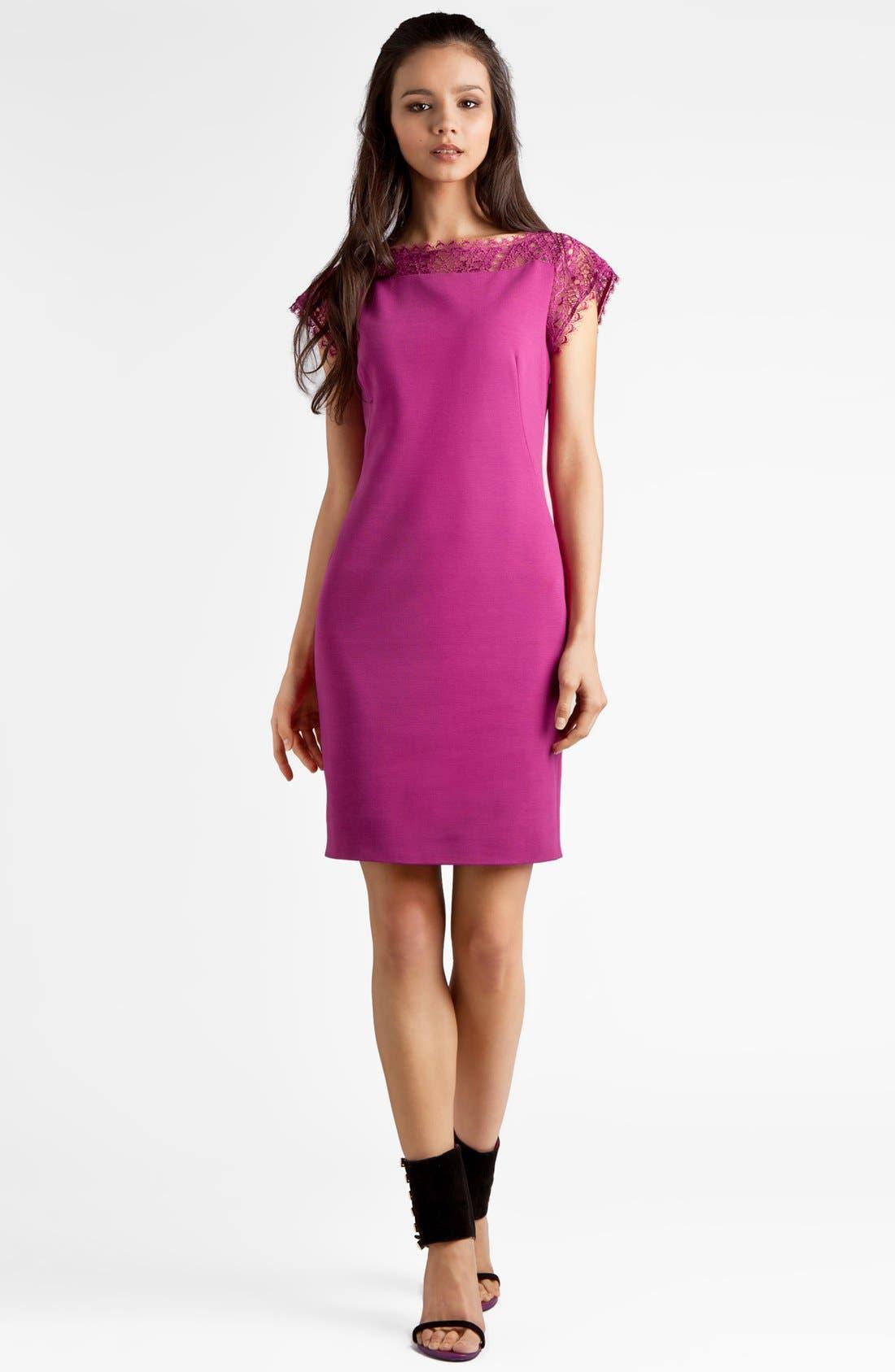 Main Image - Emilio Pucci Lace Detail Punto Milano Dress