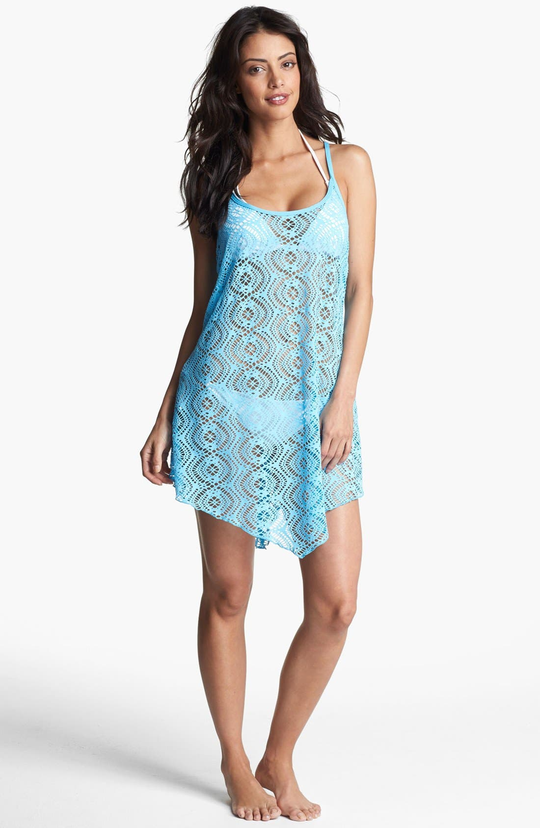 Main Image - Becca Strappy Crochet Cover-Up Dress