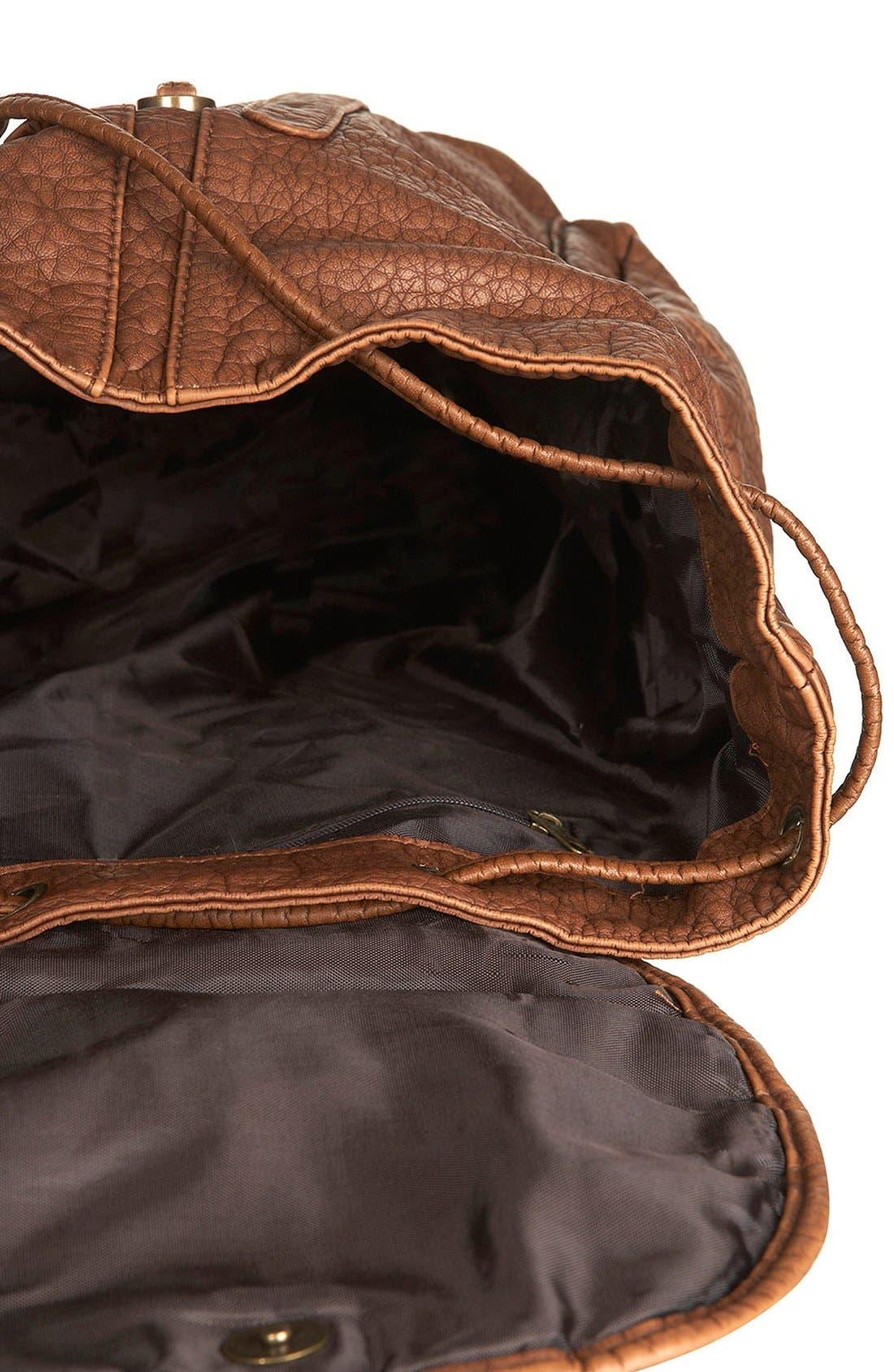 Alternate Image 3  - Topshop Multi Zip Faux Leather Backpack