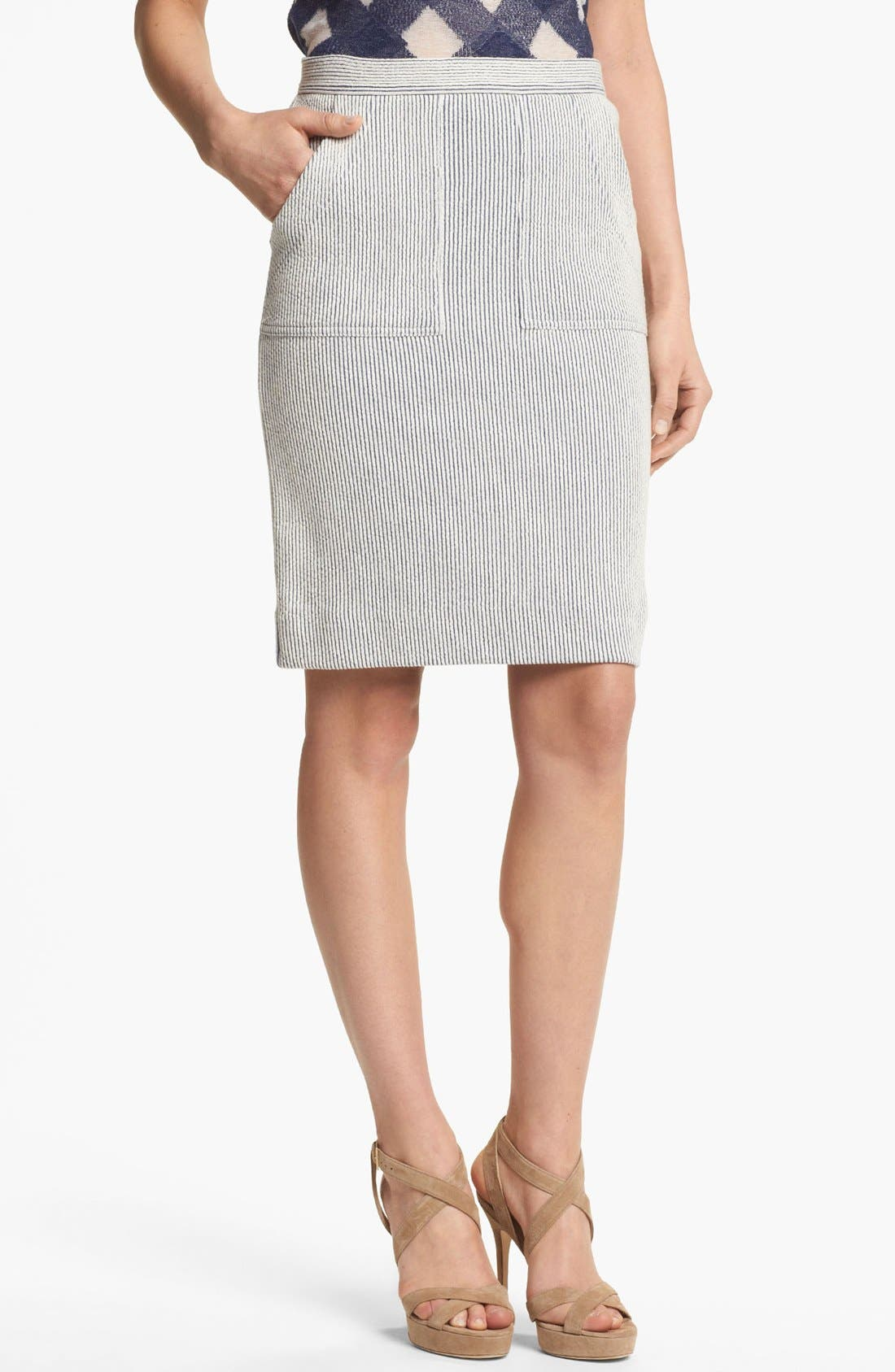 Main Image - MARC BY MARC JACOBS Stripe Knit Pencil Skirt