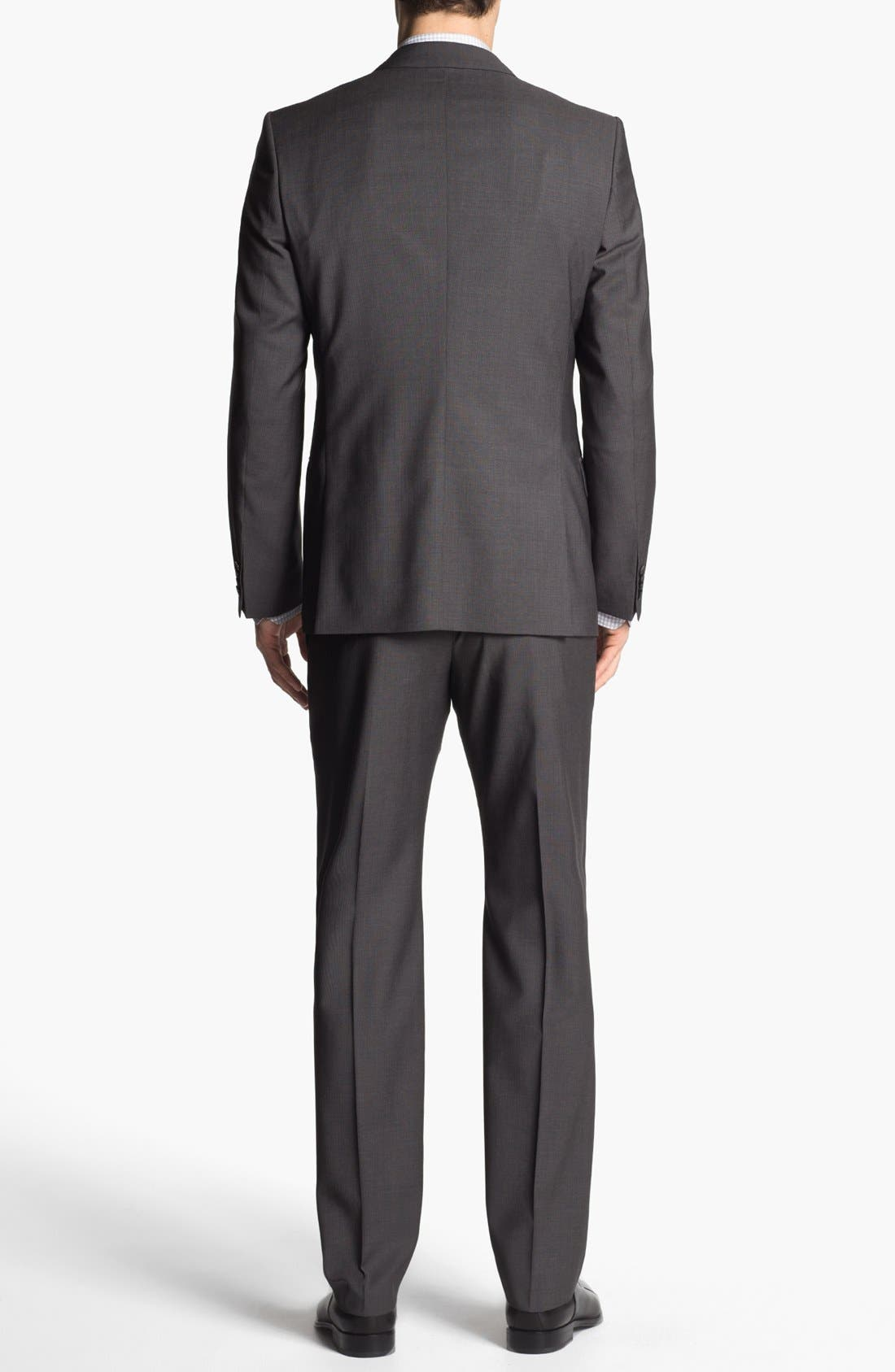 Alternate Image 3  - HUGO 'Amaro/Heise' Trim Fit Wool Suit