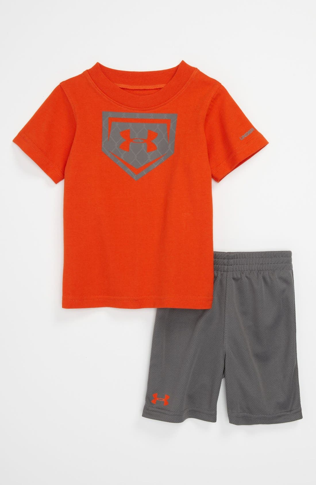 Alternate Image 1 Selected - Under Armour T-Shirt & Shorts (Baby)