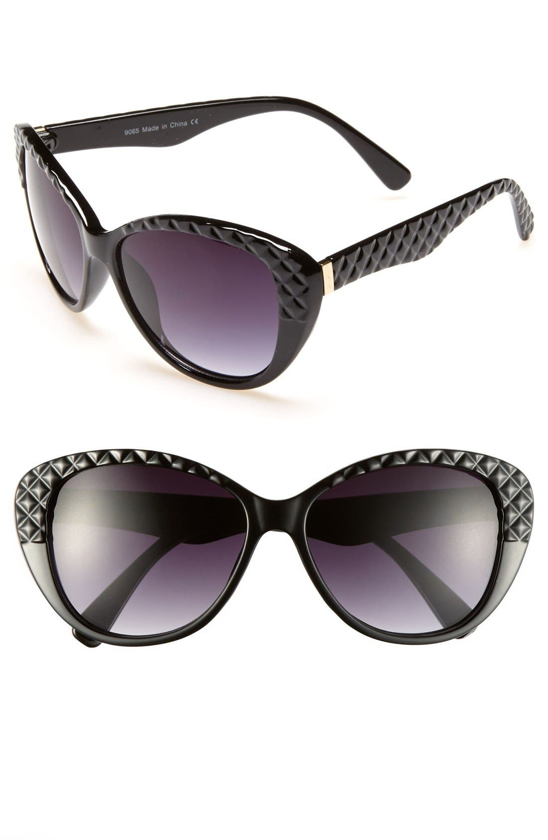 Main Image - KW Quilted Sunglasses (Juniors)