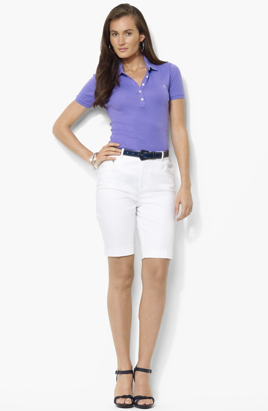 Alternate Image 1 Selected - Lauren Ralph Lauren Slimming Bermuda Shorts (Petite) (Online Only)