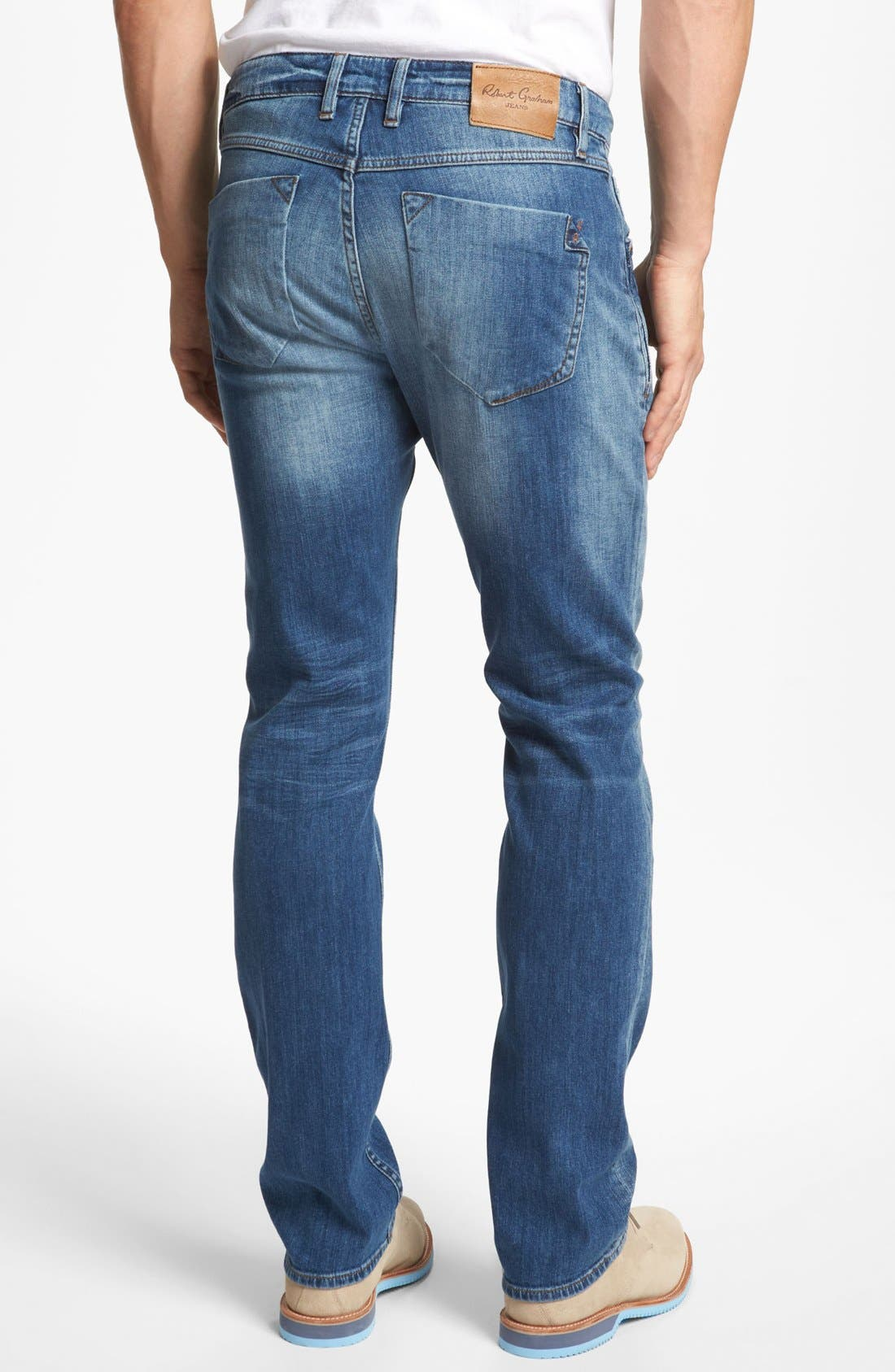 Alternate Image 2  - Robert Graham 'Stretchin' Out' Slim Fit Jeans (Indigo)
