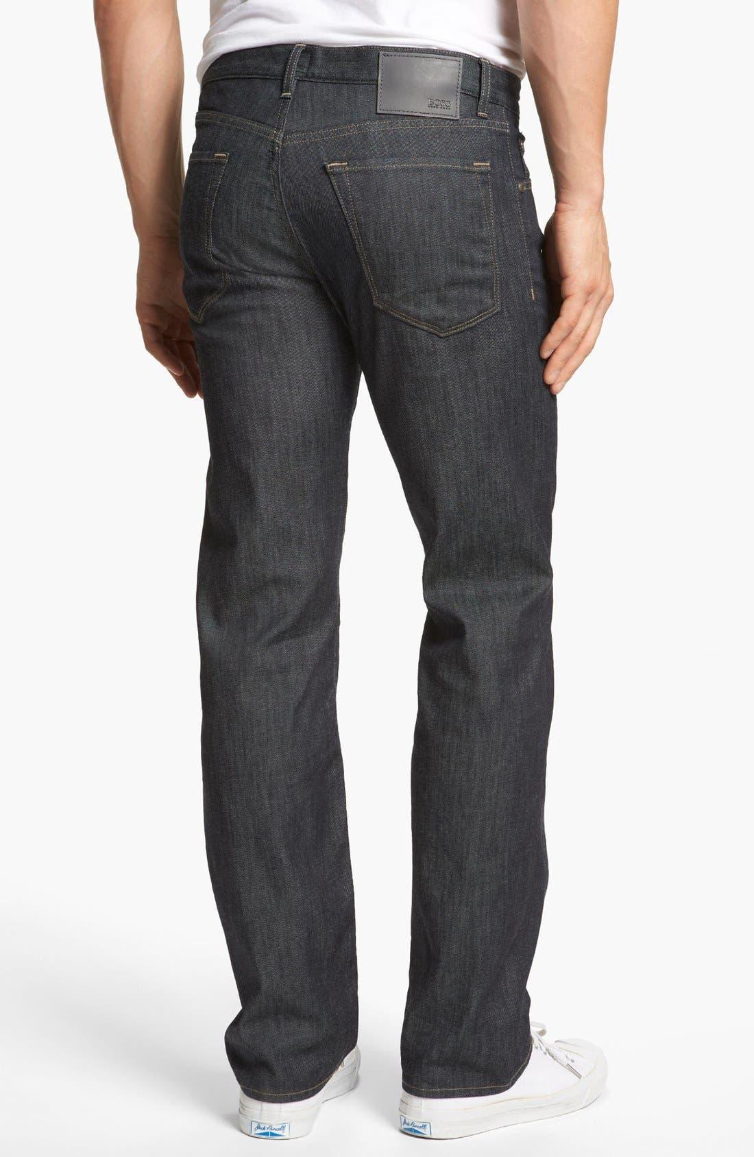 Alternate Image 2  - BOSS HUGO BOSS 'Maine' Straight Leg Jeans (Rinse)
