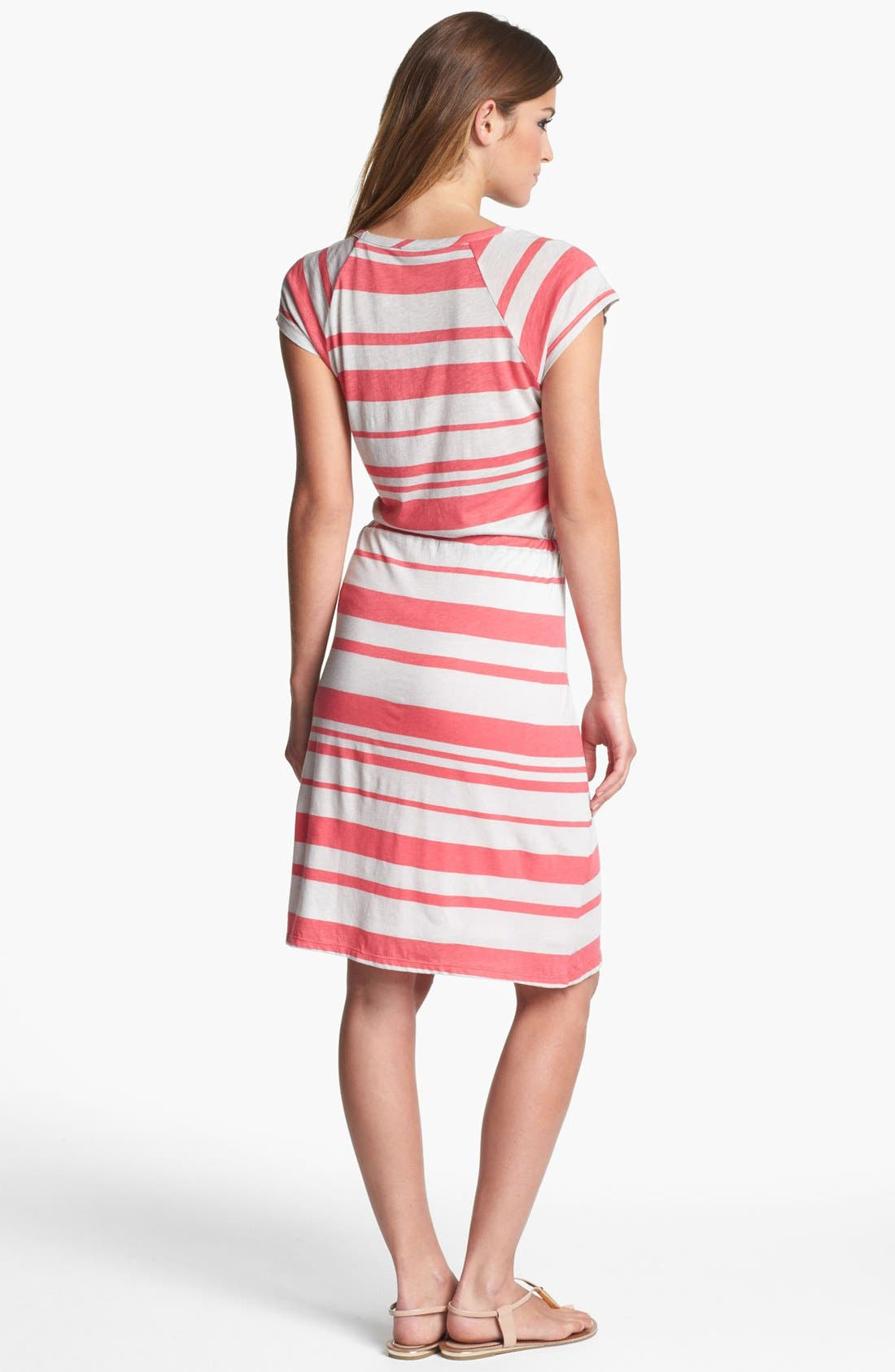 Alternate Image 2  - Felicity & Coco Stripe Drawstring Jersey Dress (Nordstrom Exclusive)