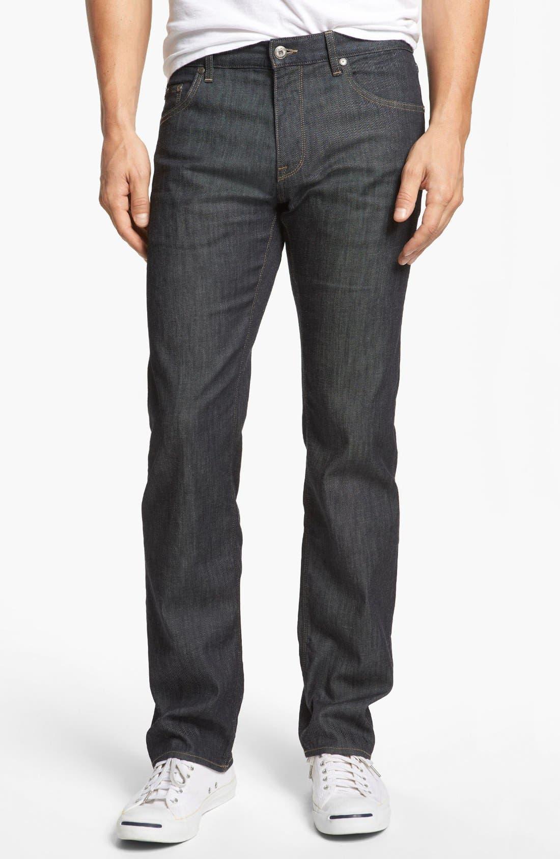 Alternate Image 1 Selected - BOSS HUGO BOSS 'Maine' Straight Leg Jeans (Rinse)
