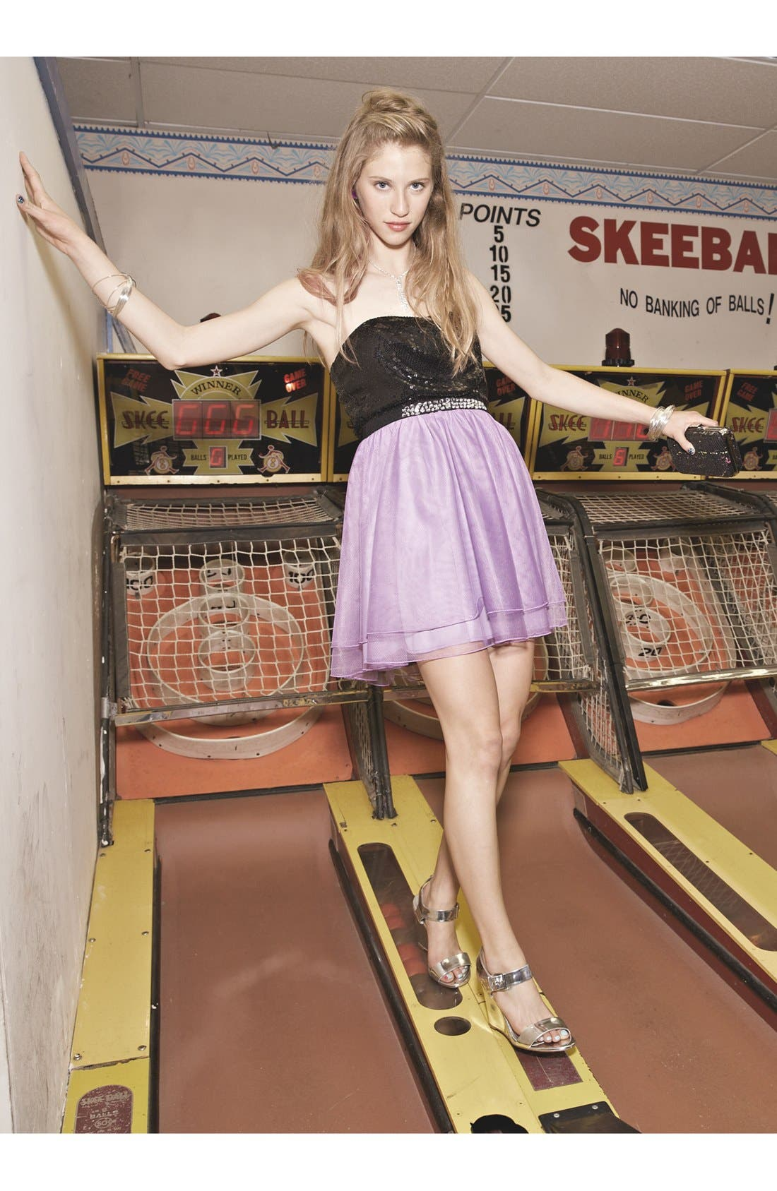 Alternate Image 4  - Trixxi Sequin & Tulle Party Dress (Juniors) (Online Only)