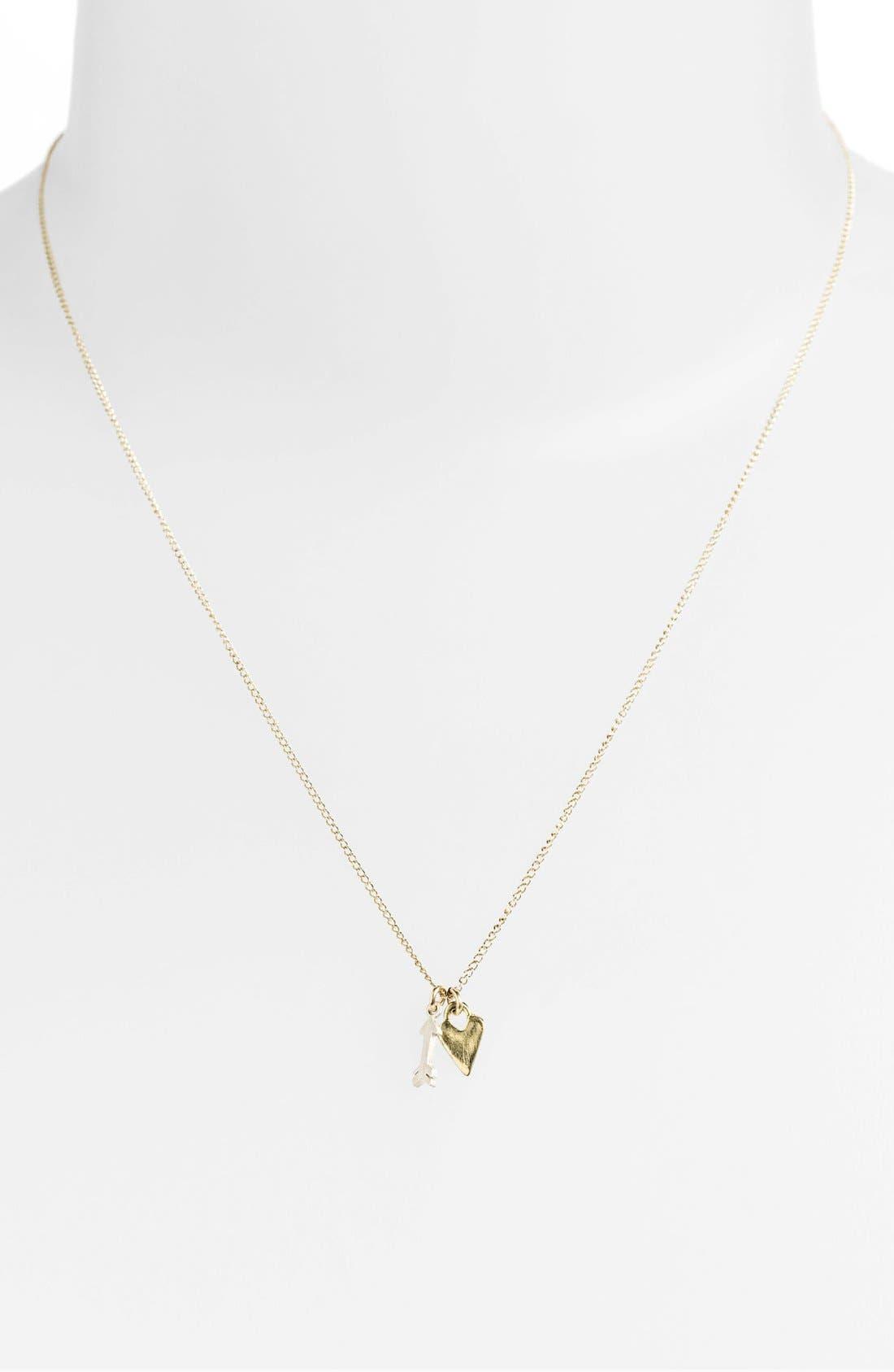 Alternate Image 2  - Dogeared Heart & Cupid's Arrow Cluster Pendant Necklace (Nordstrom Exclusive)