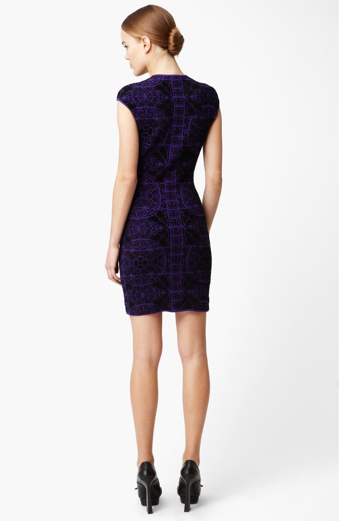 Alternate Image 2  - Alexander McQueen Stained Glass Print Intarsia Knit Dress