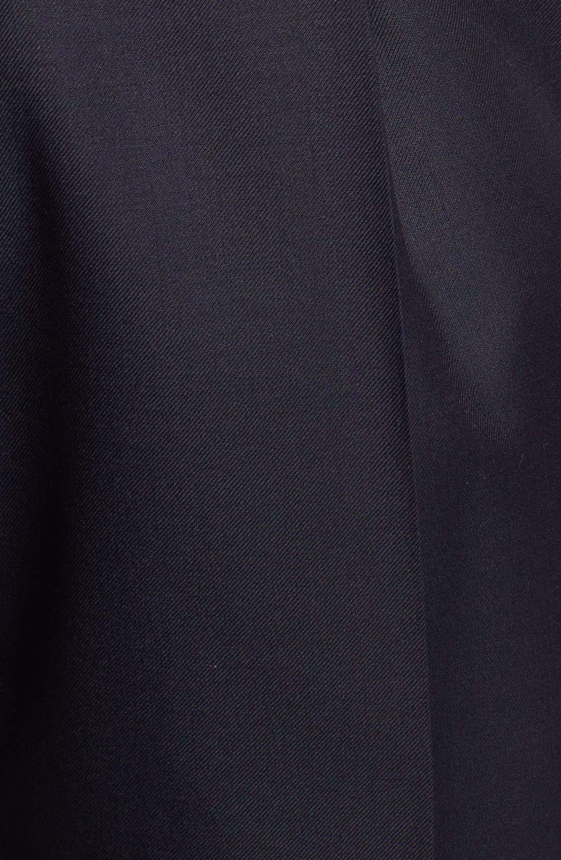 Alternate Image 3  - Santorelli 'Luxury Serge' Double Pleated Wool Trousers