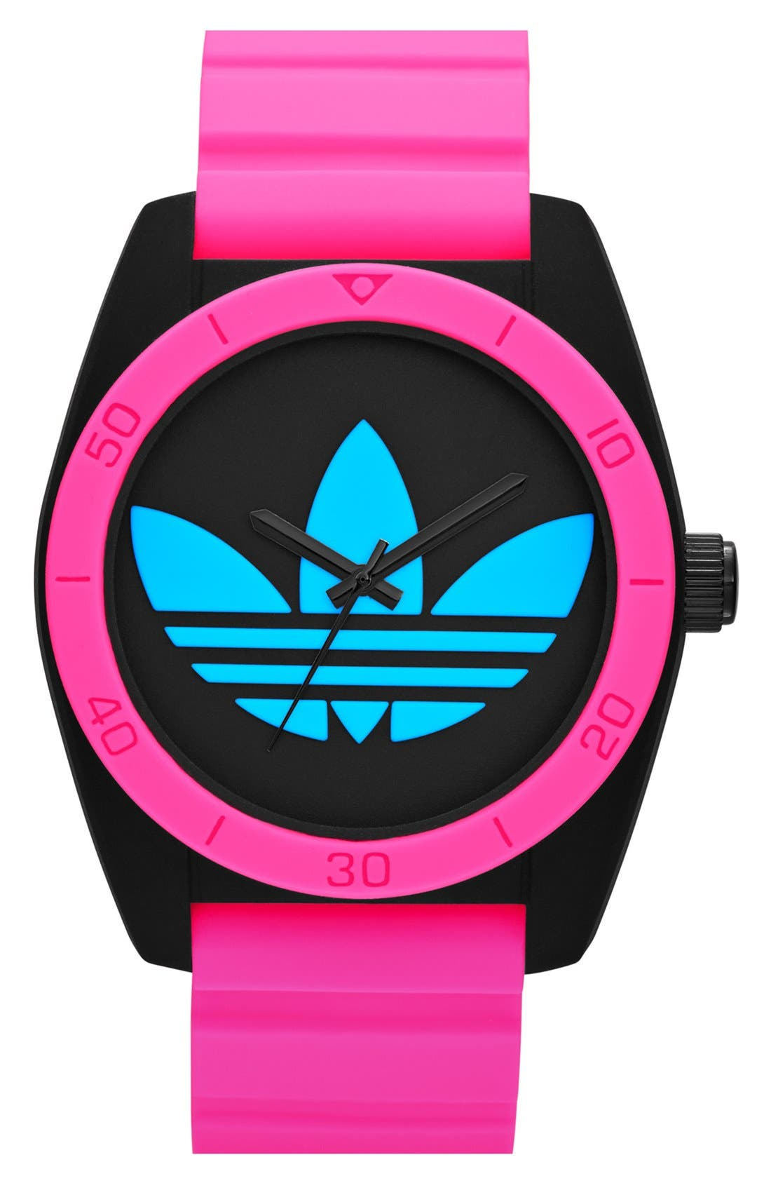 Main Image - adidas Originals 'Santiago' Logo Dial Watch, 42mm