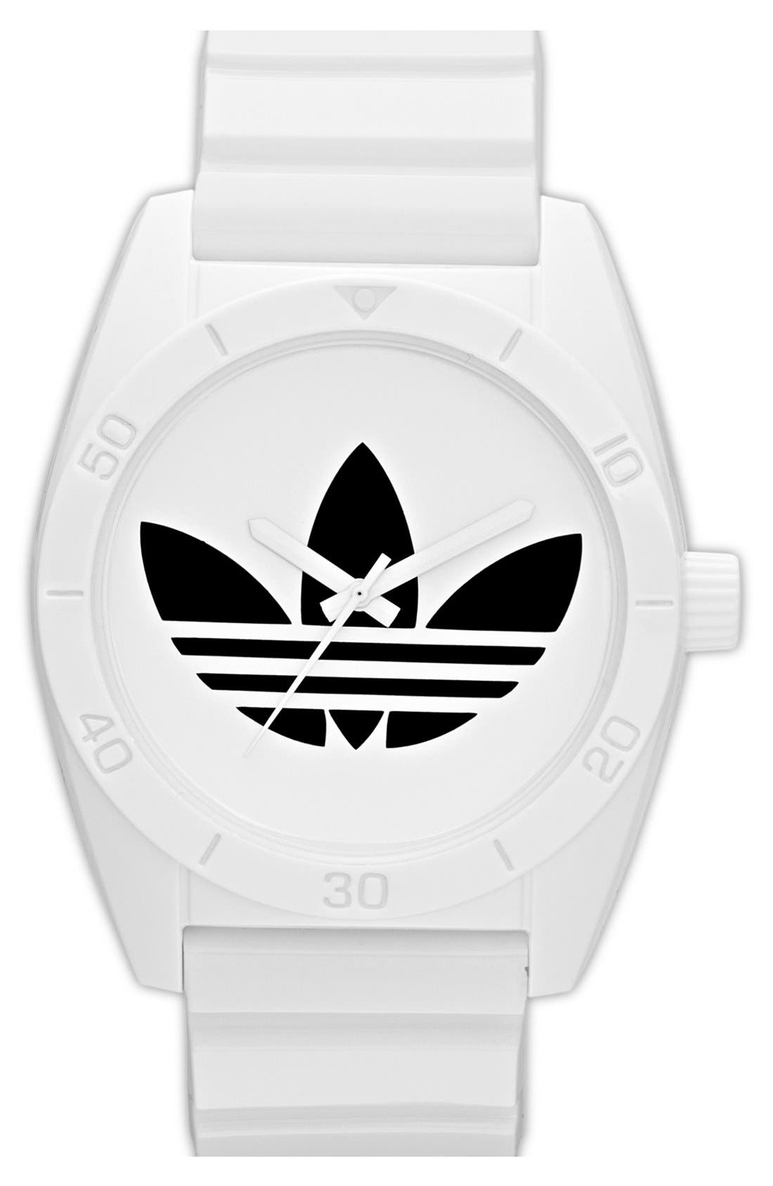 Main Image - adidas Originals 'Santiago' Polyurethane Strap Watch, 42mm