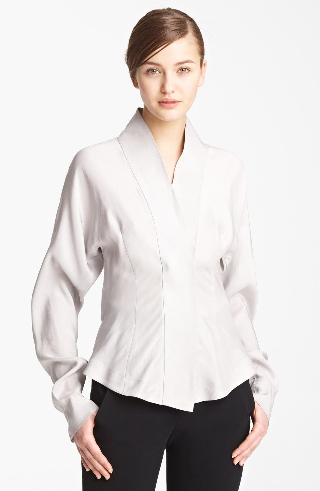 Main Image - Donna Karan Collection Tailored Satin Blouse