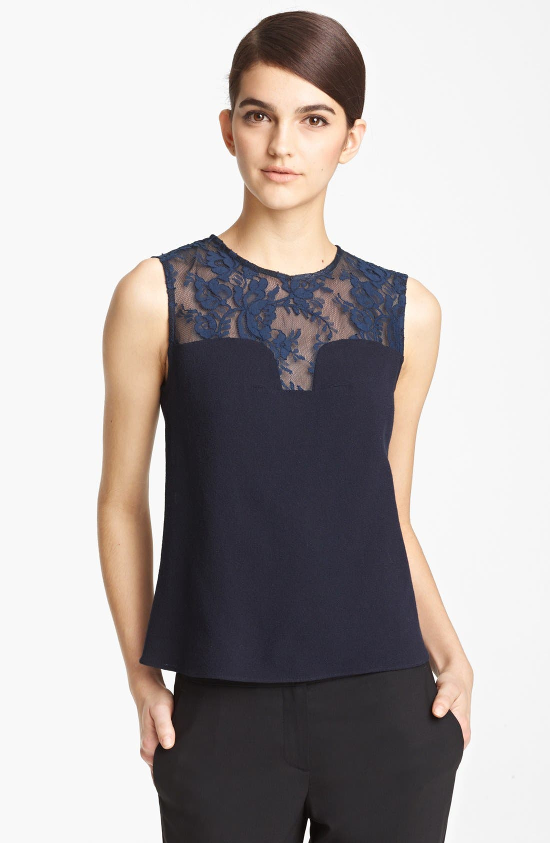 Main Image - Erdem Contrast Lace Shell