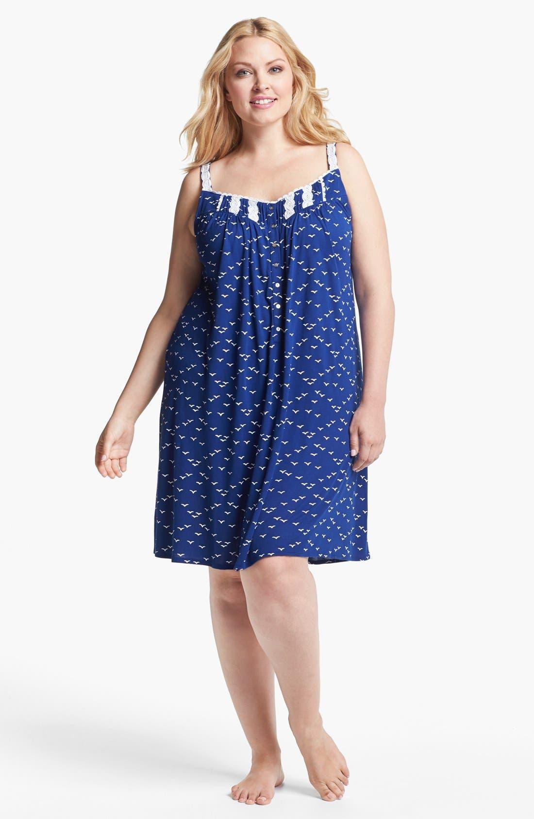 Alternate Image 3  - Eileen West 'Set Sail' Sleeveless Nightgown (Plus Size)
