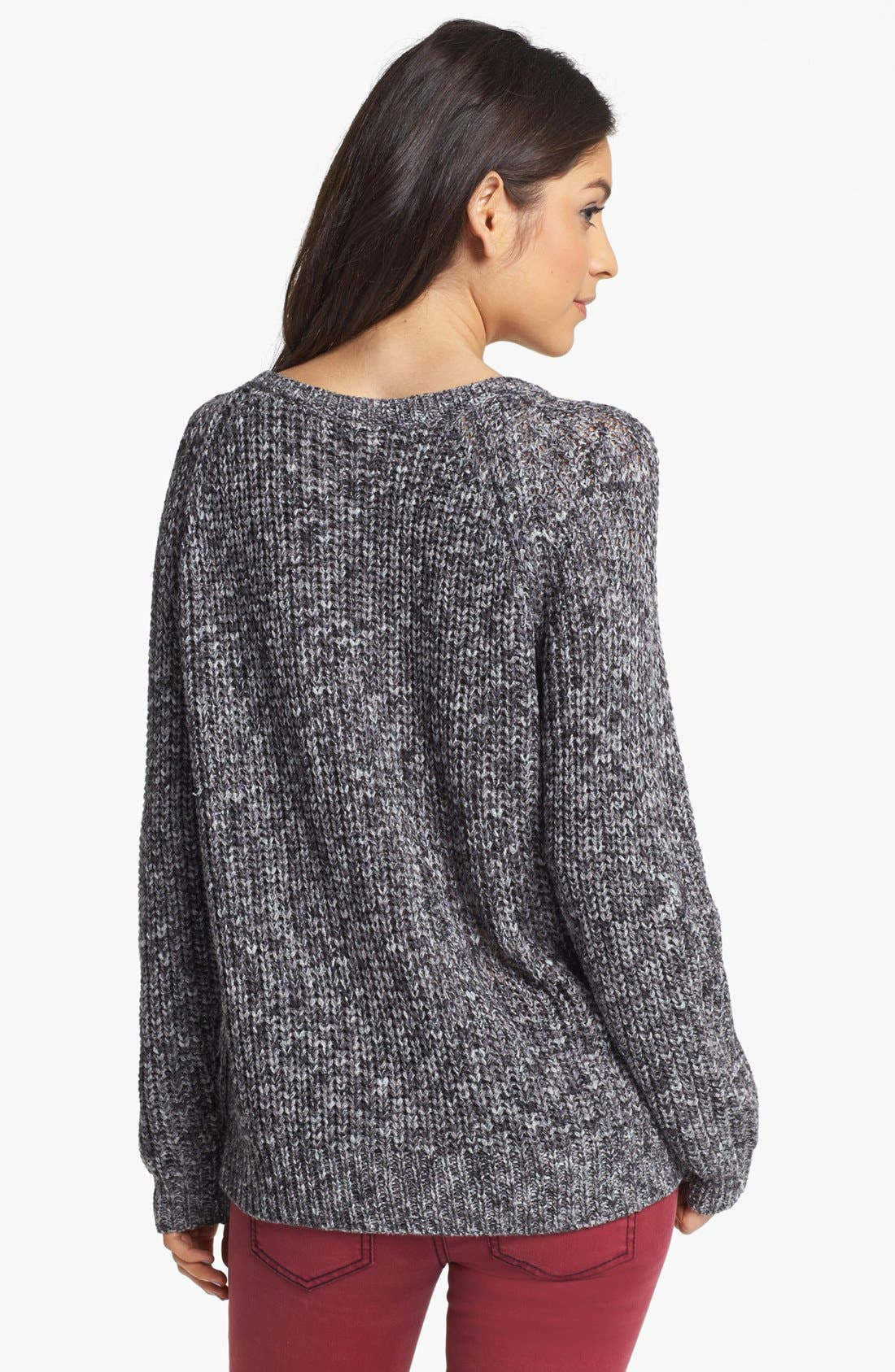 Alternate Image 2  - Rubbish® Marled Relaxed Sweater (Juniors)