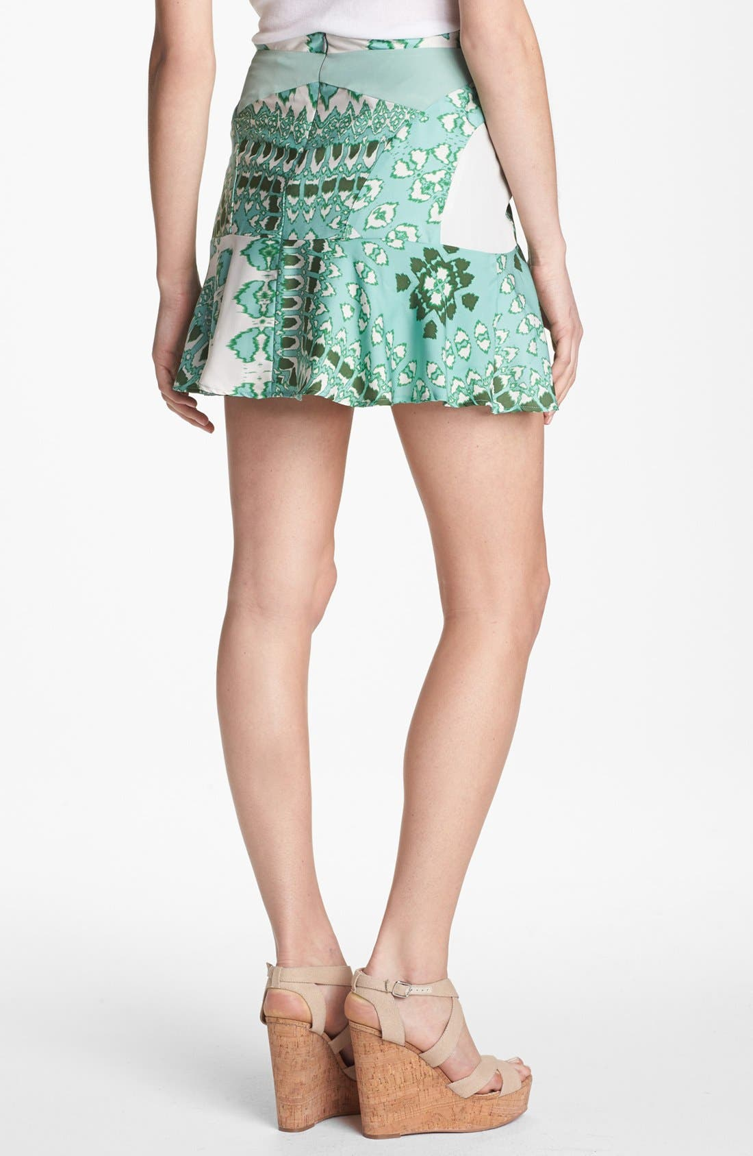 Alternate Image 2  - Collective Concepts Mix Print Ruffle Skirt