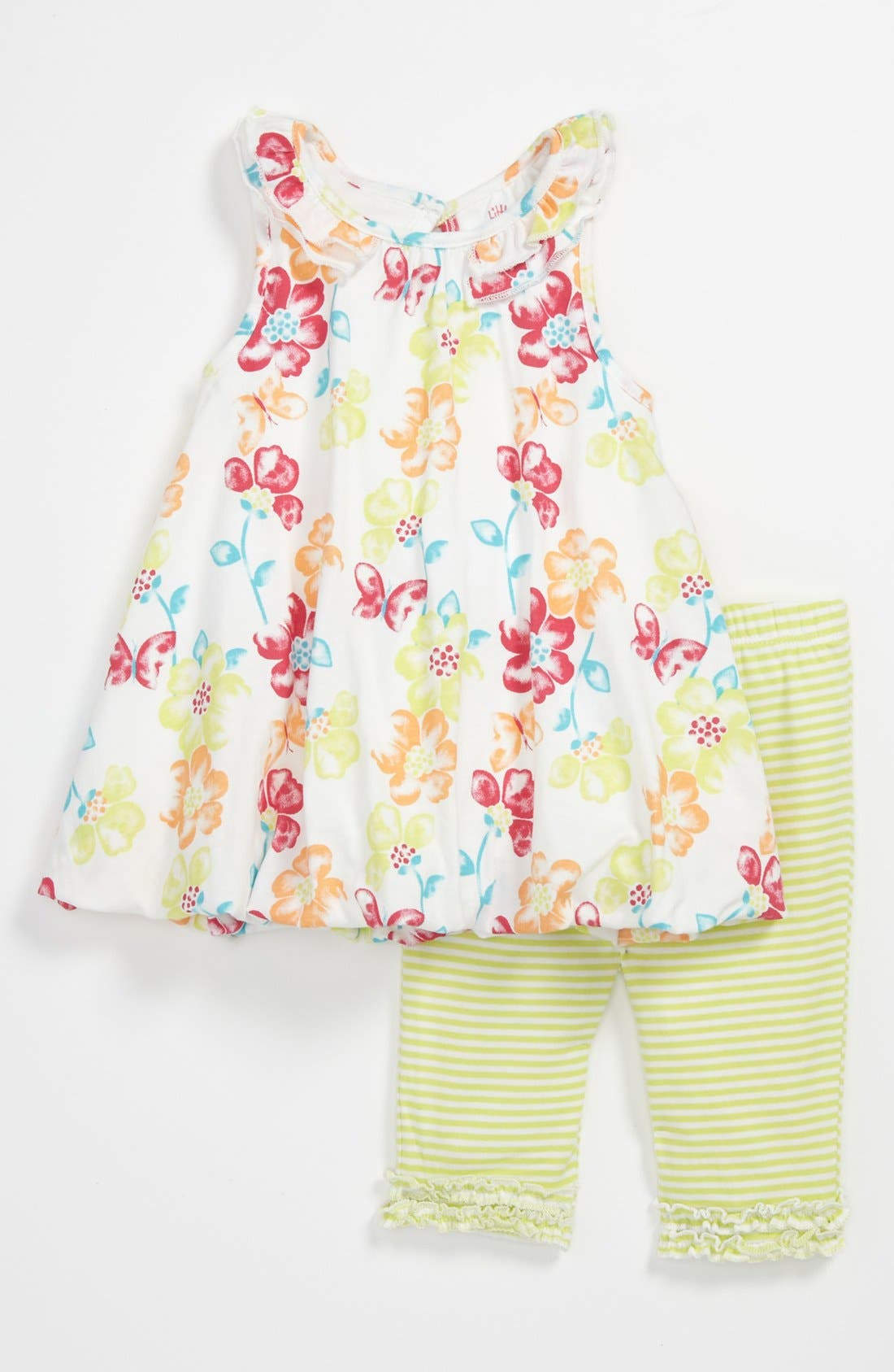Alternate Image 1 Selected - Little Me Floral Tunic & Leggings (Baby)