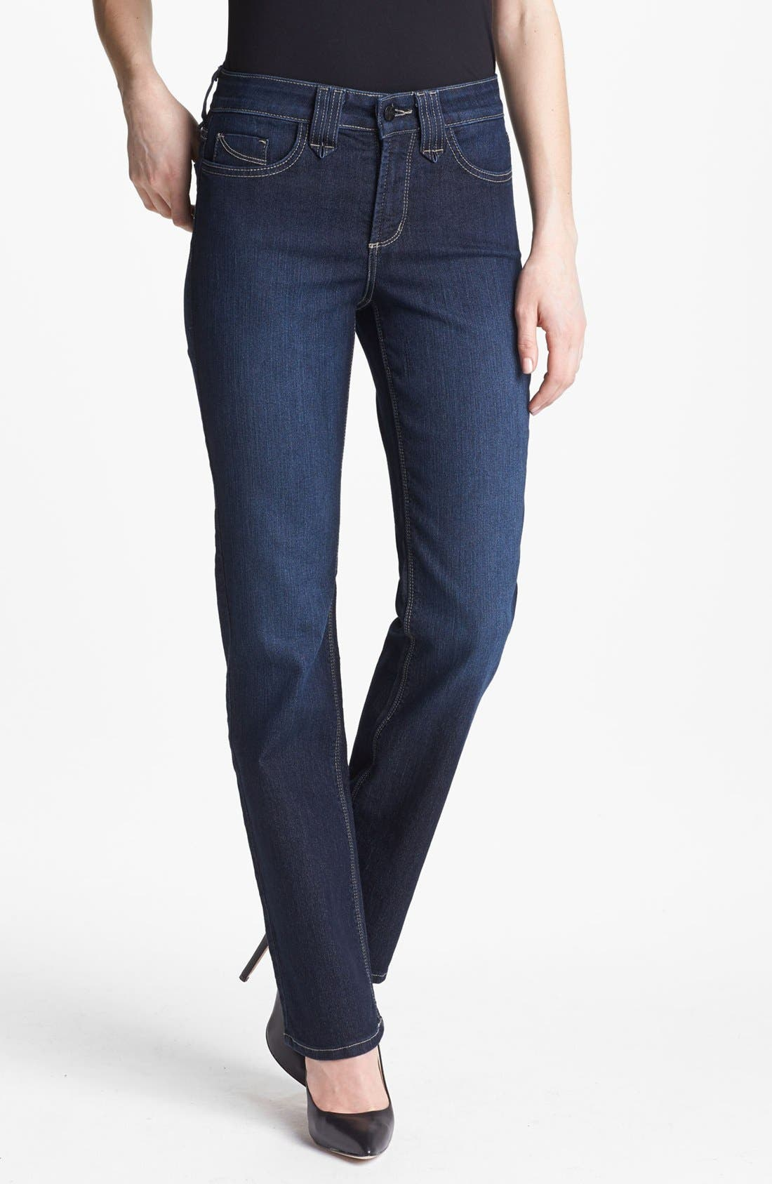 Alternate Image 1 Selected - NYDJ 'Hayden' Stretch Straight Leg Jeans (Hollywood)