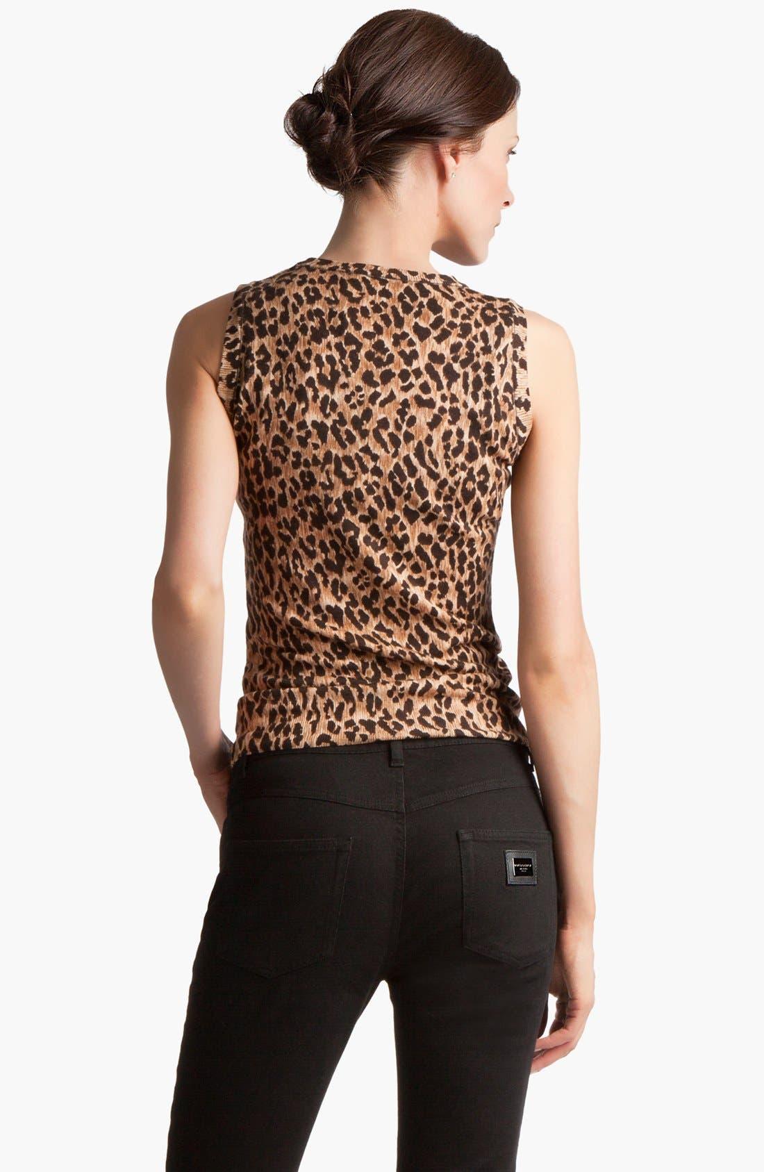 Alternate Image 2  - Dolce&Gabbana Extra Fine Wool Shell