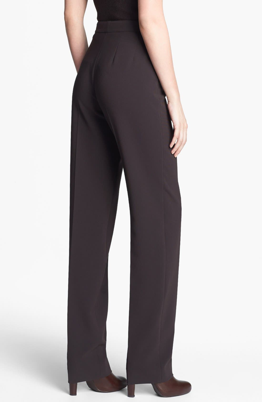 Alternate Image 4  - St. John Collection 'Diana' Straight Leg Crepe Marocain Pants