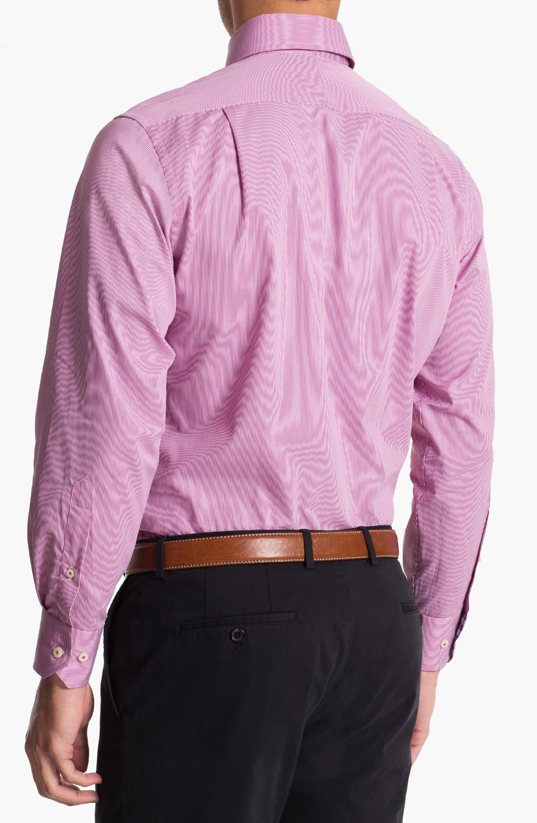 Alternate Image 2  - Peter Millar Regular Fit Sport Shirt (Tall)