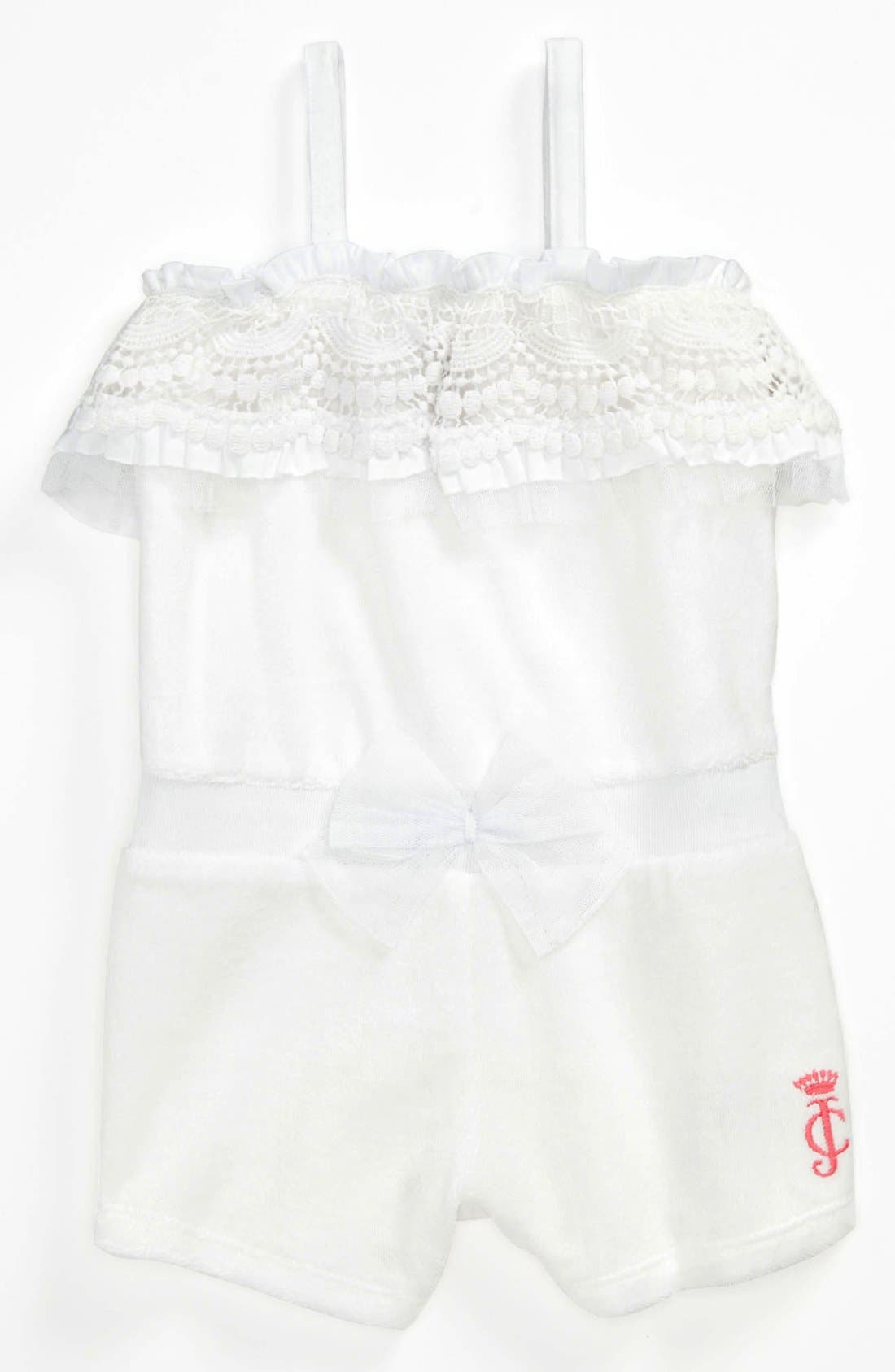 Main Image - Juicy Couture Terry Cloth Coveralls (Baby)