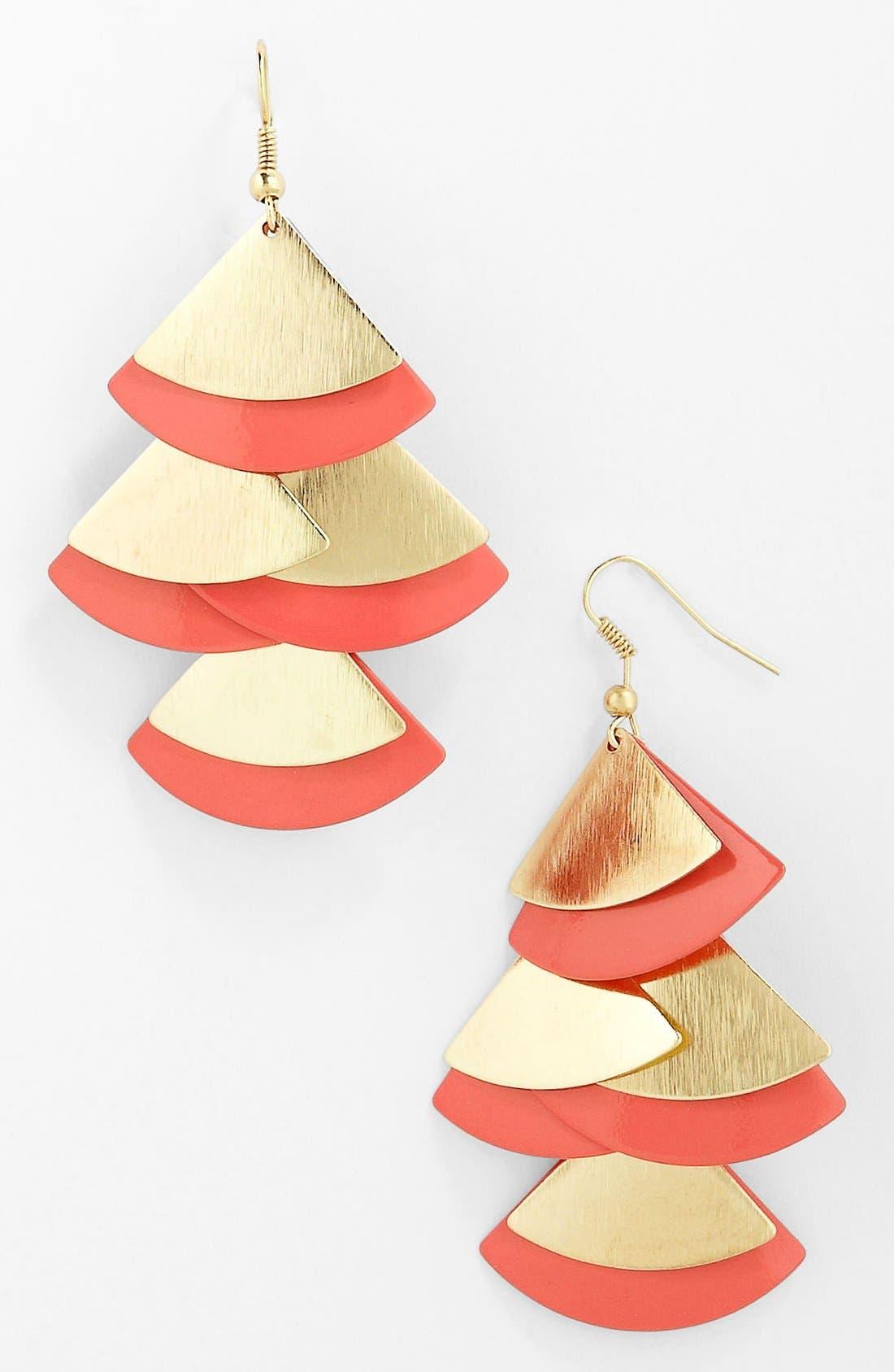 Main Image - Carole Paddle Earrings