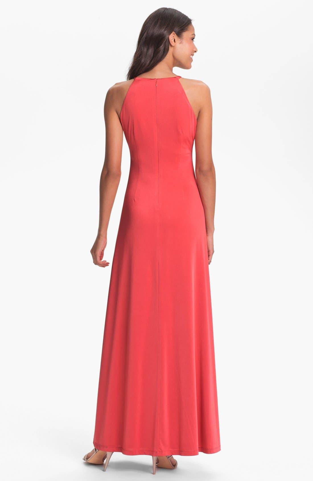 Alternate Image 2  - Calvin Klein Pleated Cutaway Jersey Dress