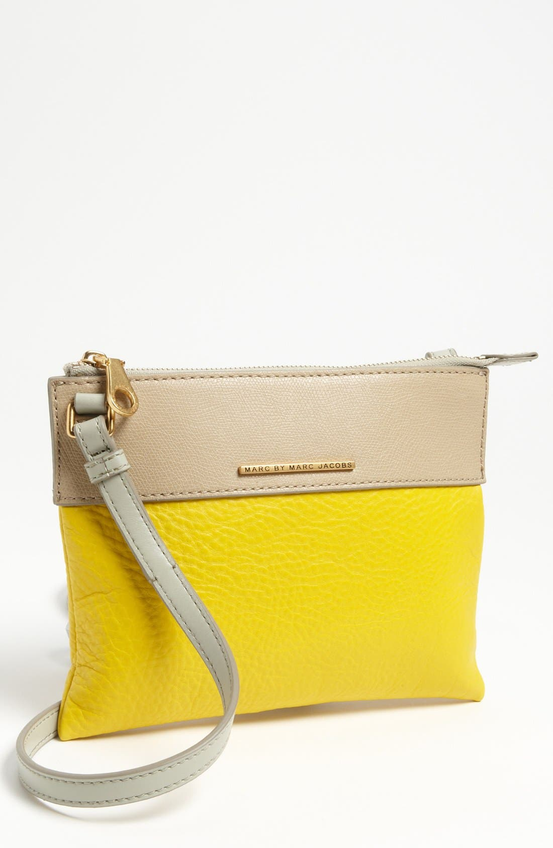 Alternate Image 1 Selected - MARC BY MARC JACOBS 'Sheltered Island - Percy' Colorblock Leather Crossbody Bag, Small