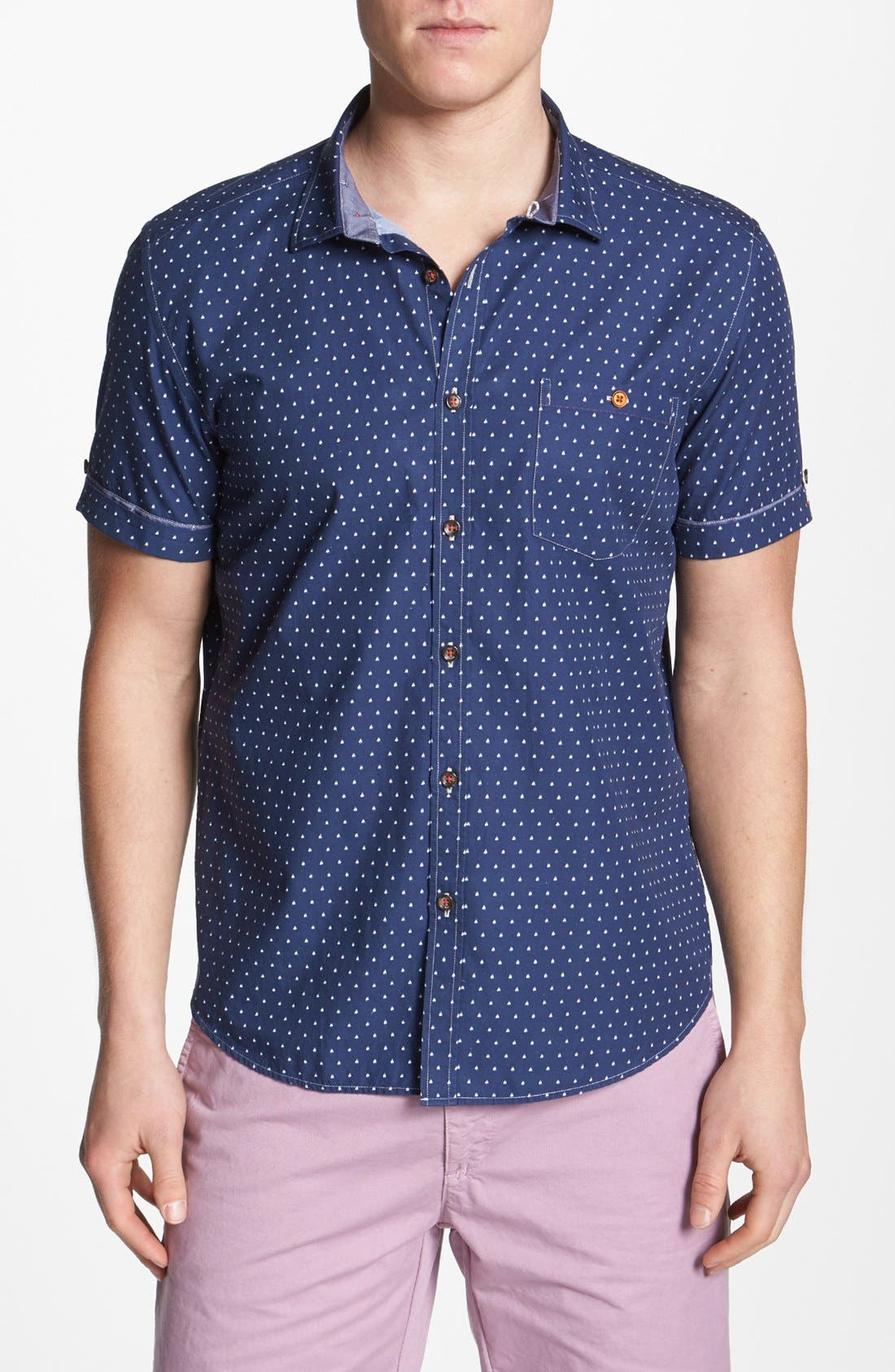 Alternate Image 1 Selected - Ted Baker London 'Boaty' Short Sleeve Sport Shirt