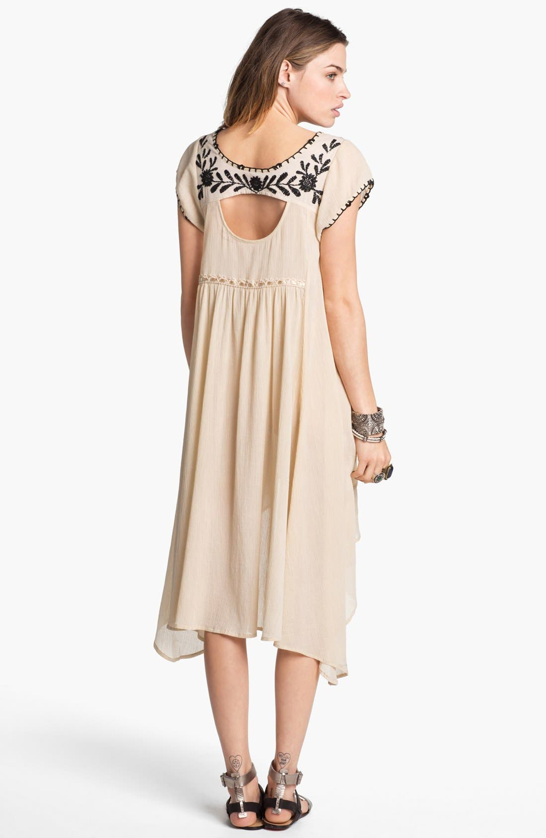 Alternate Image 2  - Free People 'Marina' Embroidered High/Low Dress