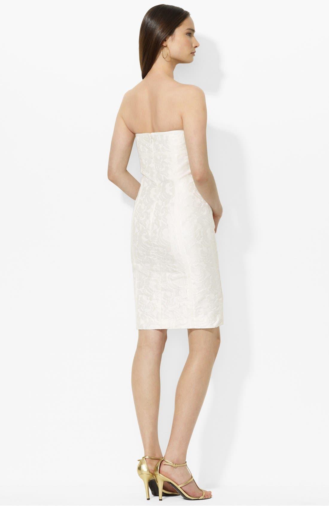Alternate Image 2  - Lauren Ralph Lauren Jacquard Lace Sheath Dress