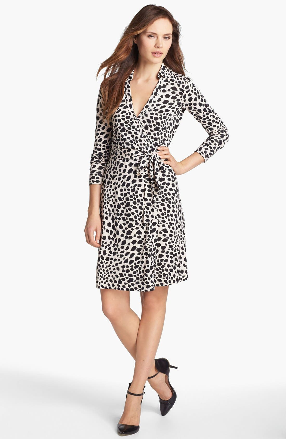 Alternate Image 1 Selected - Diane von Furstenberg 'New Jeanne 2' Silk Jersey Wrap Dress