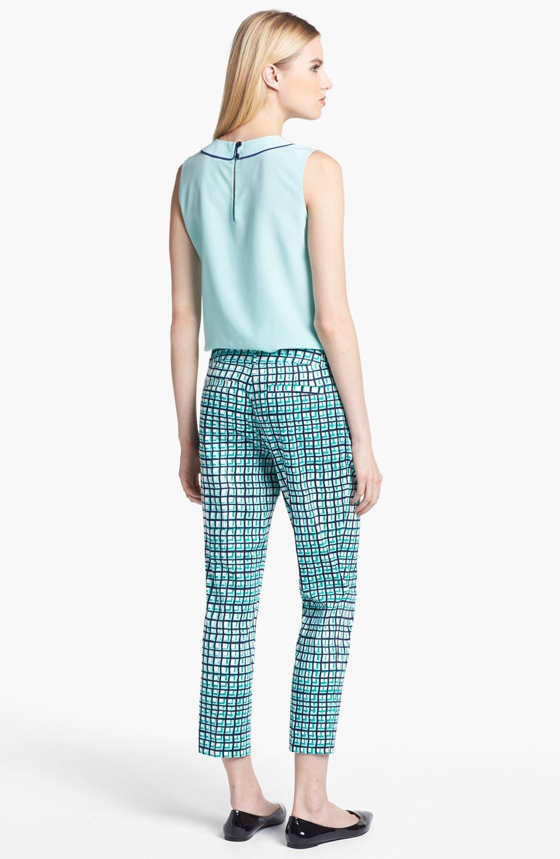 Alternate Image 2  - kate spade new york silk top & capri pants