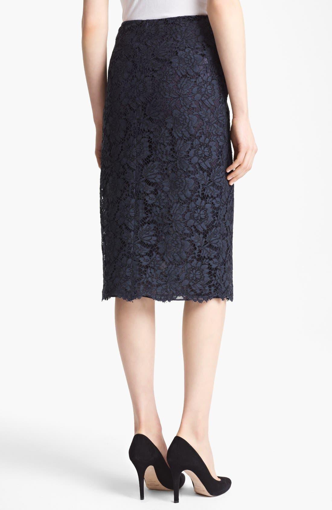 Alternate Image 2  - Valentino Tubino Lace Skirt