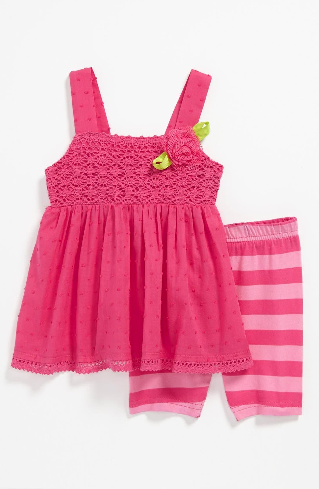 Alternate Image 1 Selected - Sweet Heart Rose Tunic & Shorts (Baby)
