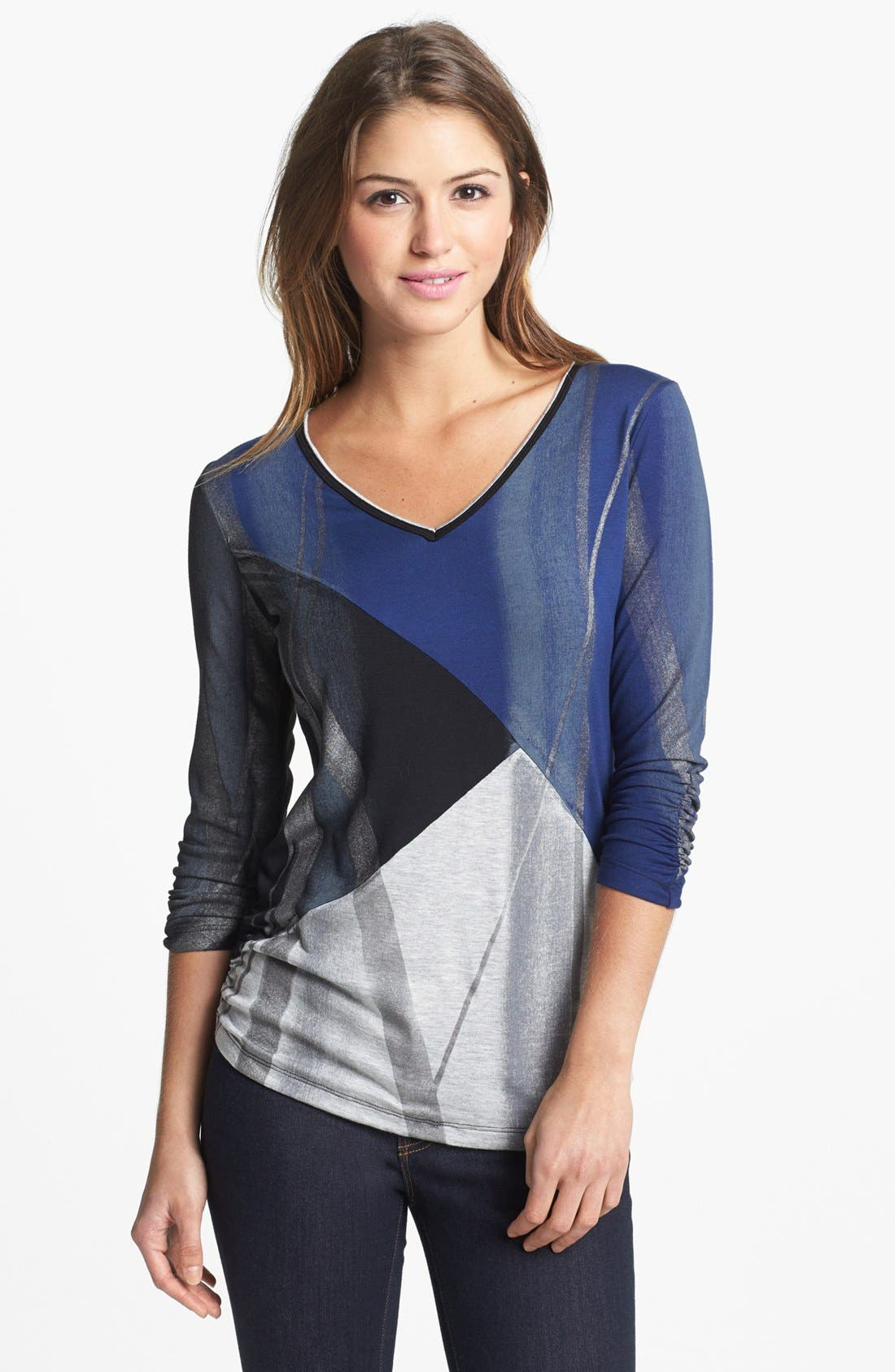 Alternate Image 1 Selected - Edista Ruched V-Neck Top (Petite)