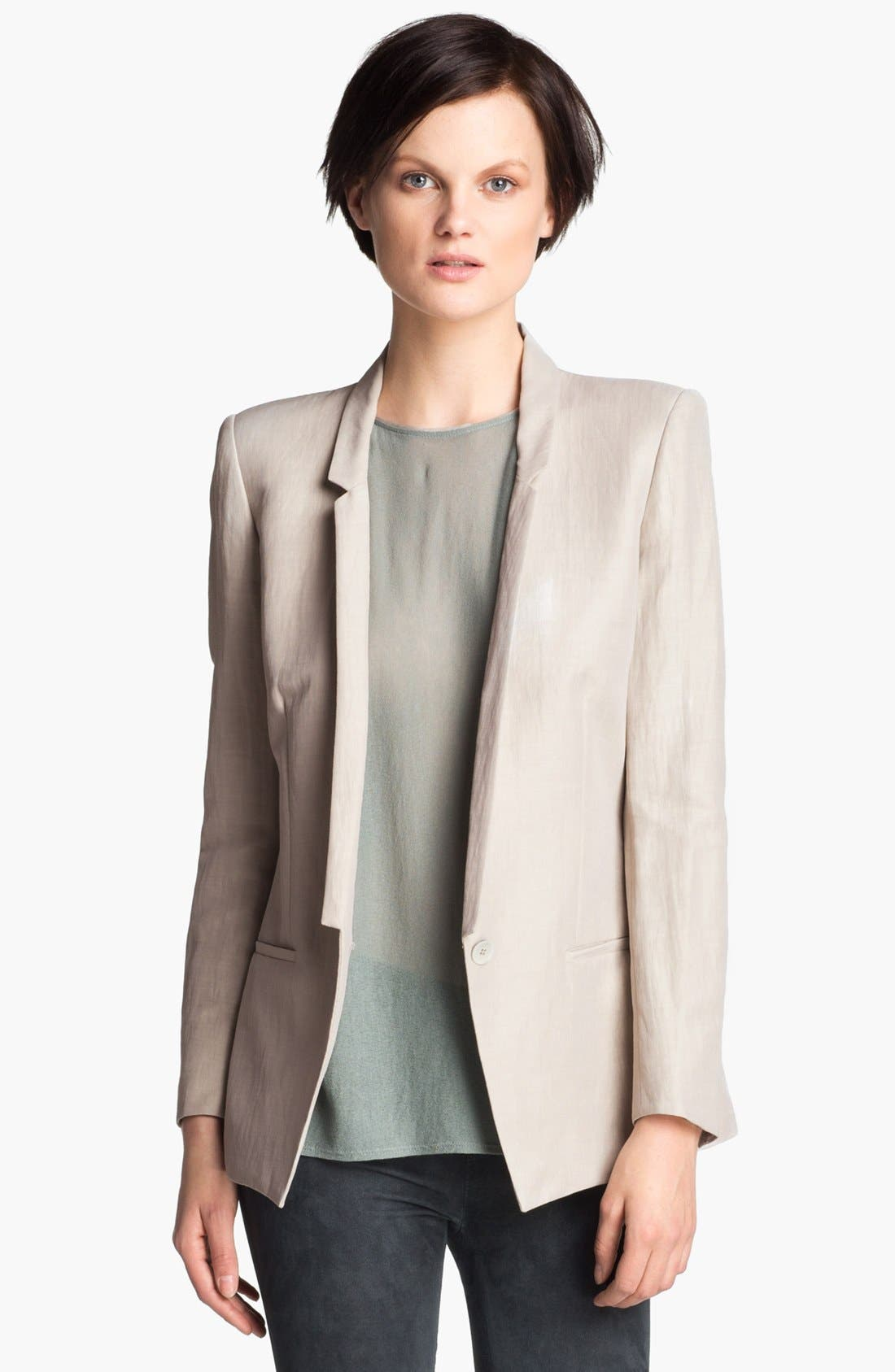 Alternate Image 1 Selected - Helmut Lang Linen Blend Blazer