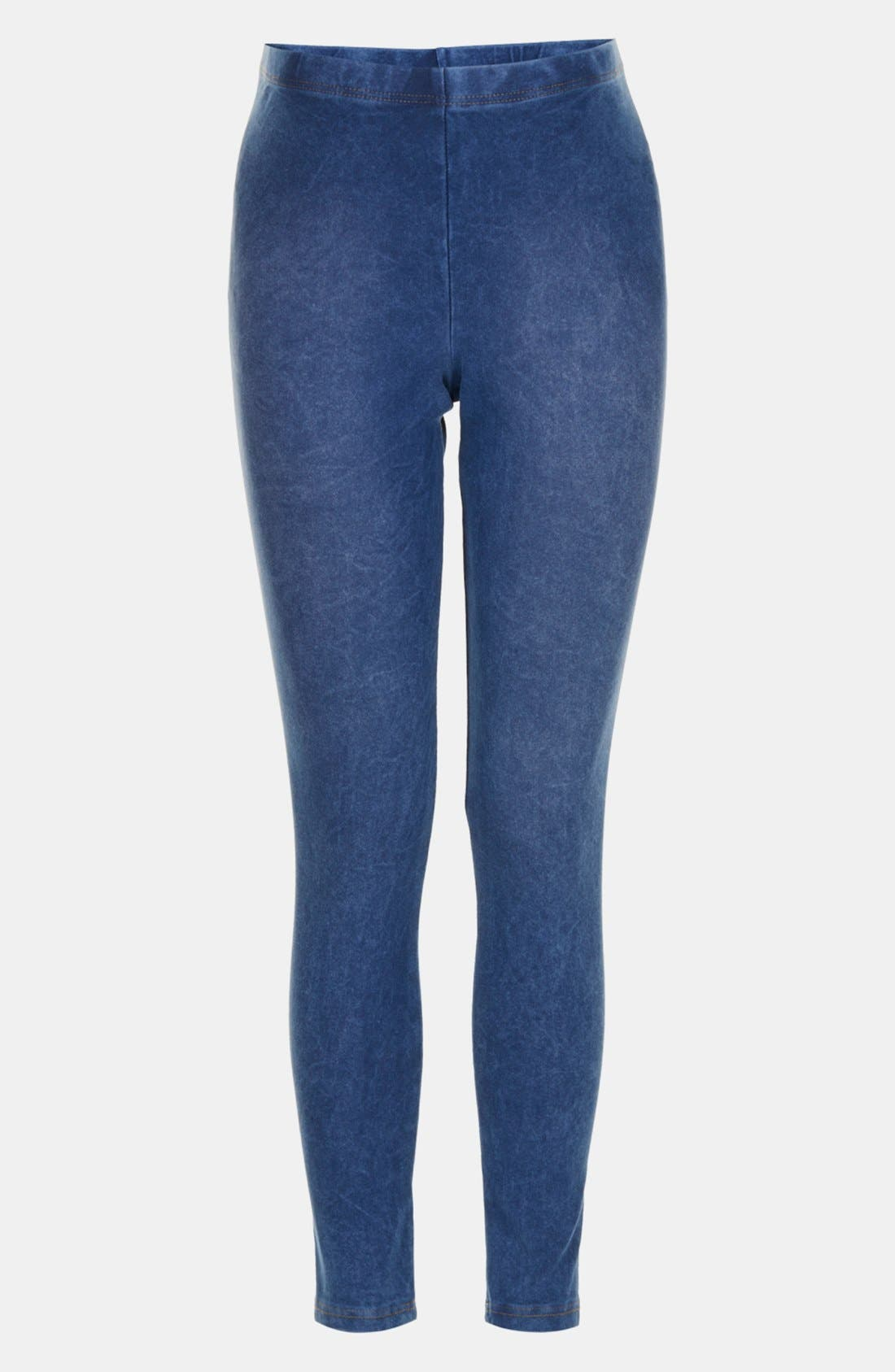 Alternate Image 1 Selected - Topshop Acid Wash Maternity Leggings