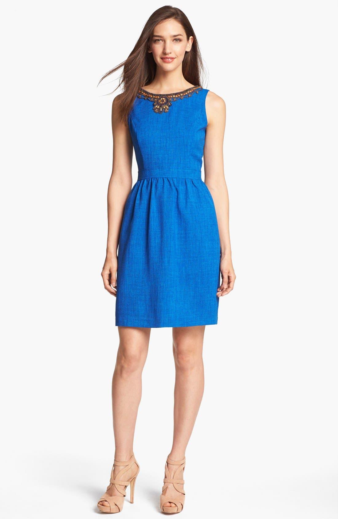 Alternate Image 1 Selected - Ellen Tracy Embellished Sleeveless Sheath Dress